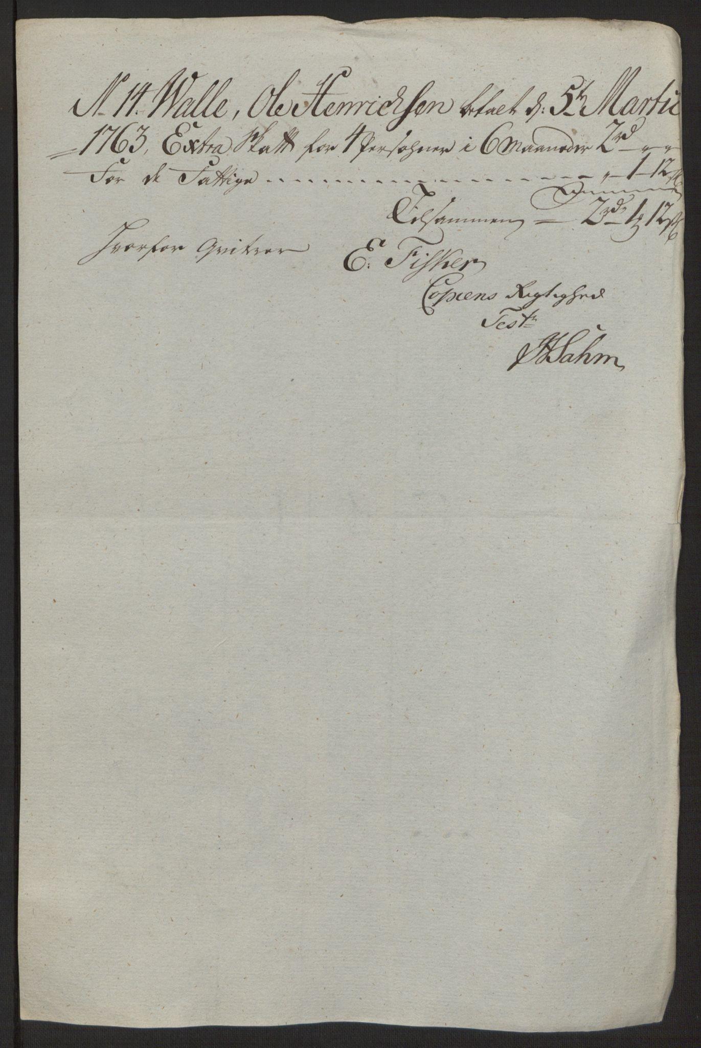 RA, Rentekammeret inntil 1814, Reviderte regnskaper, Byregnskaper, R/Rg/L0144: [G4] Kontribusjonsregnskap, 1762-1767, s. 61