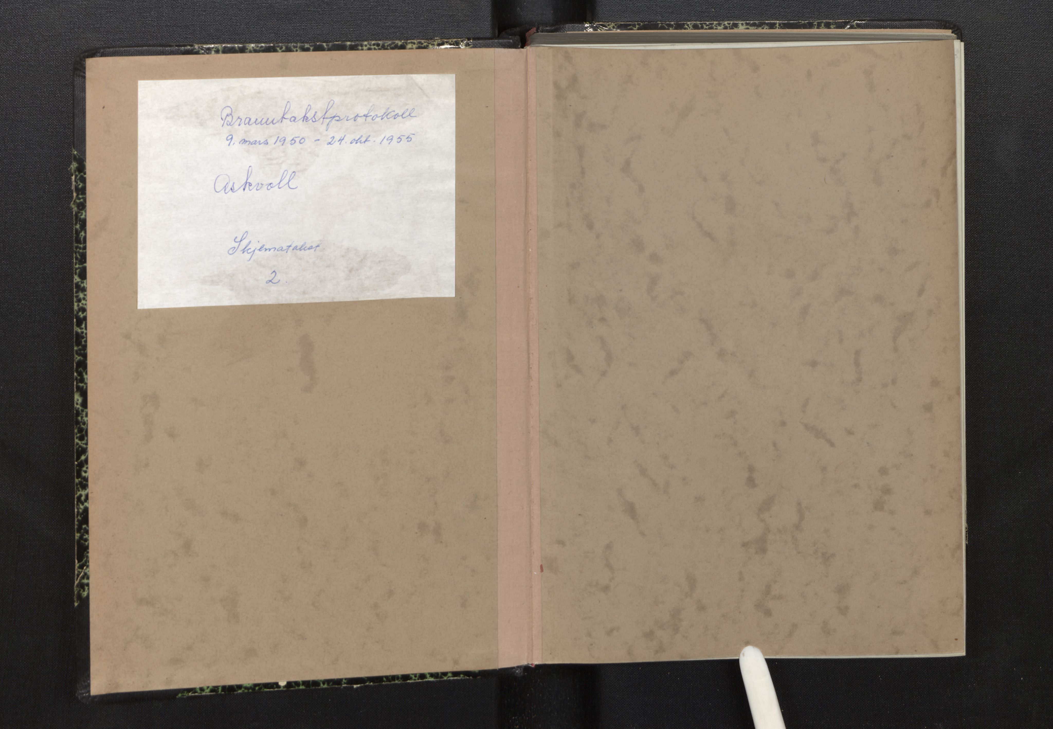 SAB, Lensmannen i Askvoll, 0012/L0006: Branntakstprotokoll, skjematakst, 1950-1955