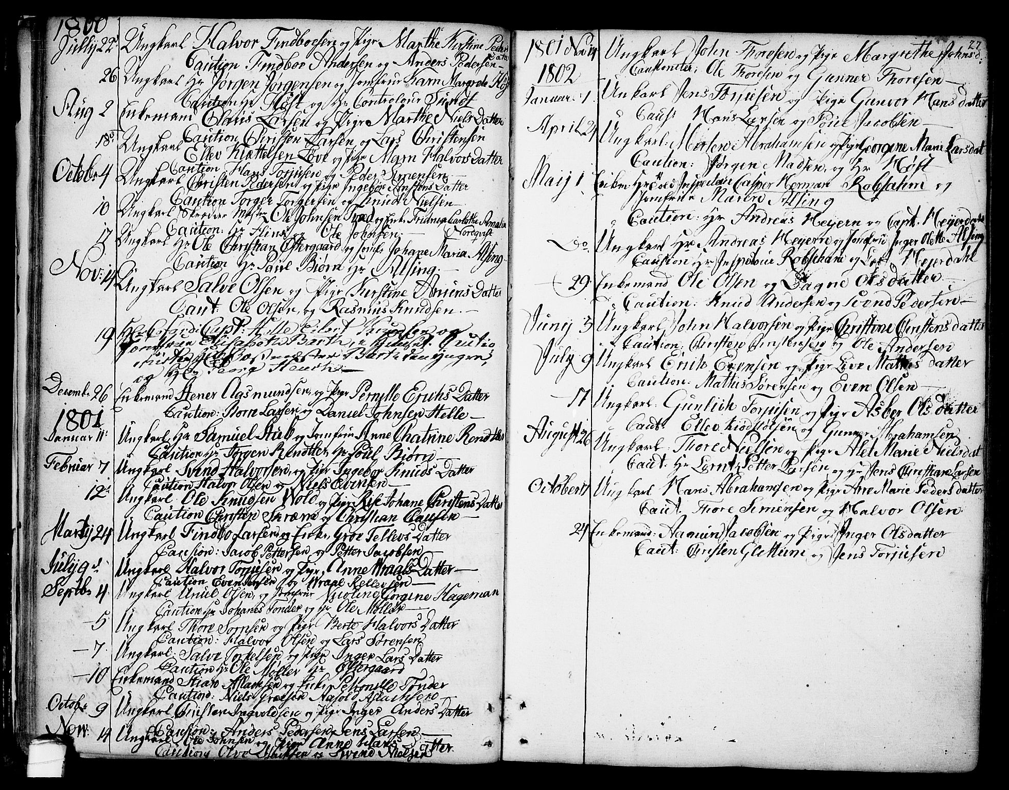SAKO, Kragerø kirkebøker, F/Fa/L0002: Ministerialbok nr. 2, 1767-1802, s. 27