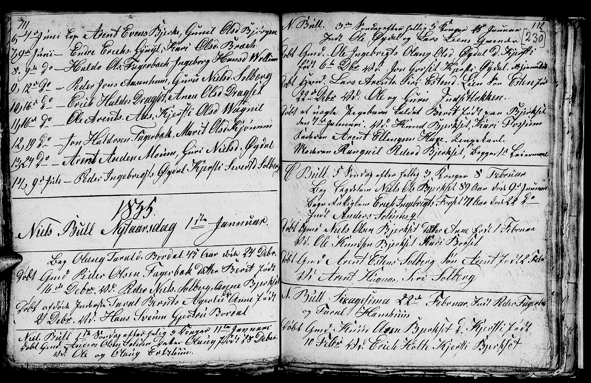 SAT, Ministerialprotokoller, klokkerbøker og fødselsregistre - Sør-Trøndelag, 689/L1042: Klokkerbok nr. 689C01, 1812-1841, s. 229-230