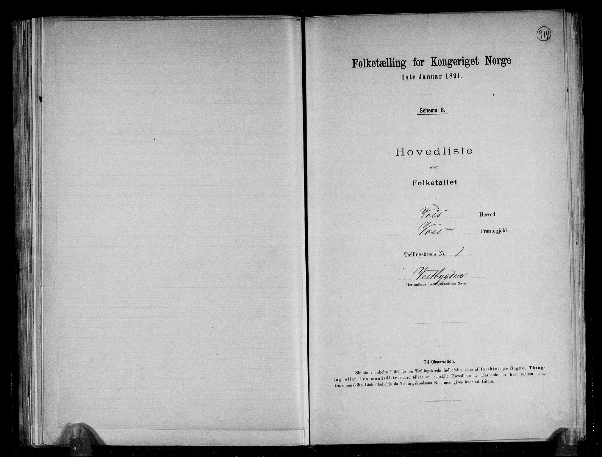 RA, Folketelling 1891 for 1235 Voss herred, 1891, s. 5