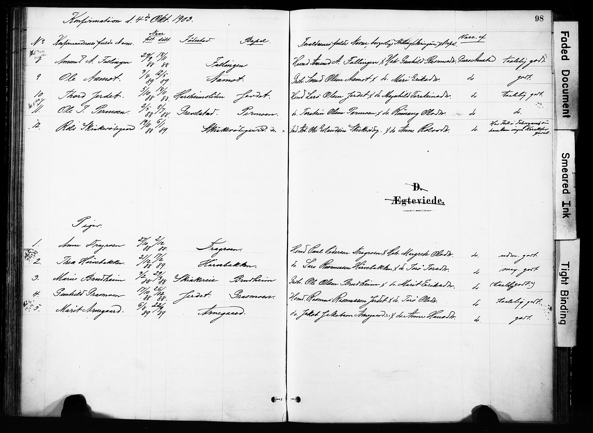 SAH, Skjåk prestekontor, Ministerialbok nr. 4, 1880-1904, s. 98