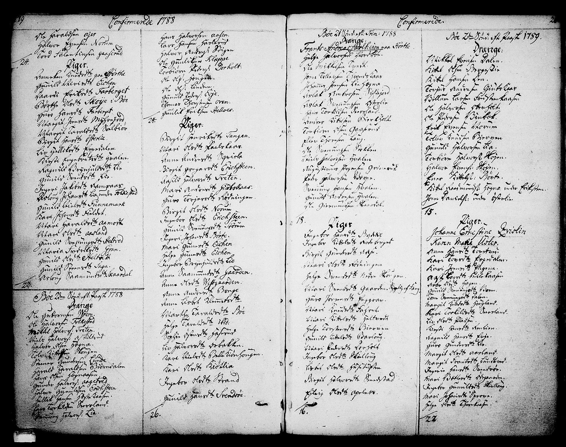 SAKO, Bø kirkebøker, F/Fa/L0005: Ministerialbok nr. 5, 1785-1815, s. 279-280