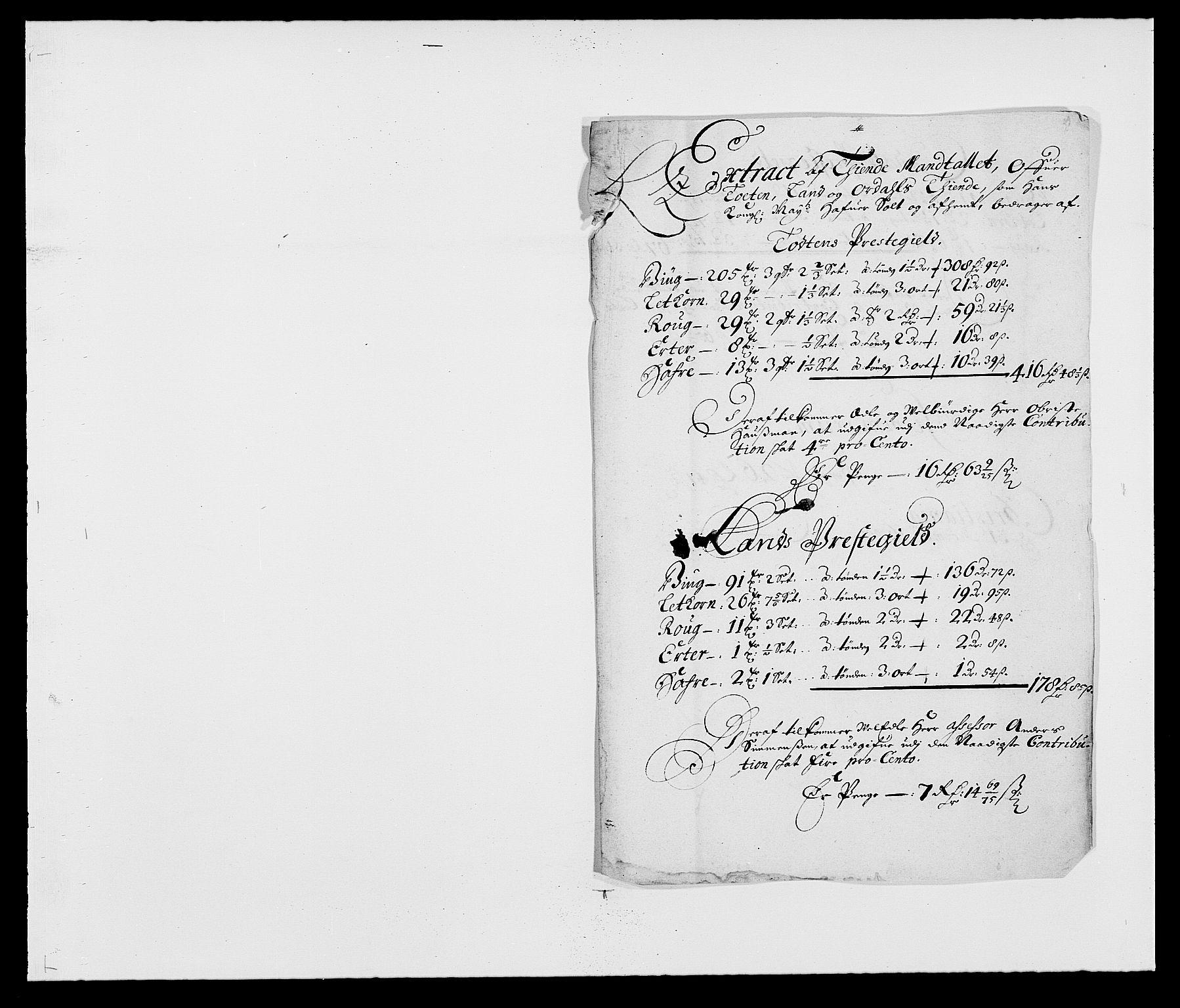 RA, Rentekammeret inntil 1814, Reviderte regnskaper, Fogderegnskap, R18/L1286: Fogderegnskap Hadeland, Toten og Valdres, 1687, s. 196