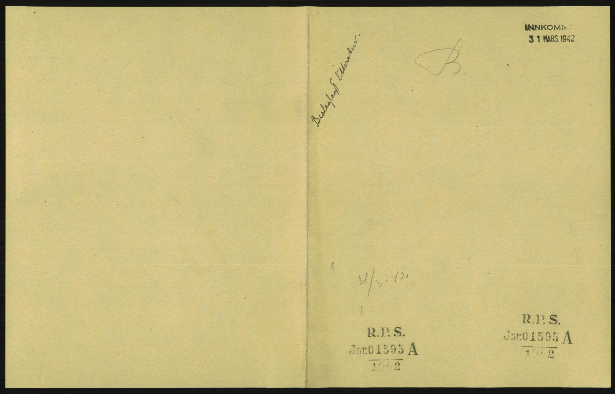 RA, Statspolitiet - Hovedkontoret / Osloavdelingen, F/L0091: Beslaglagt litteratur, 1941-1943, s. 3