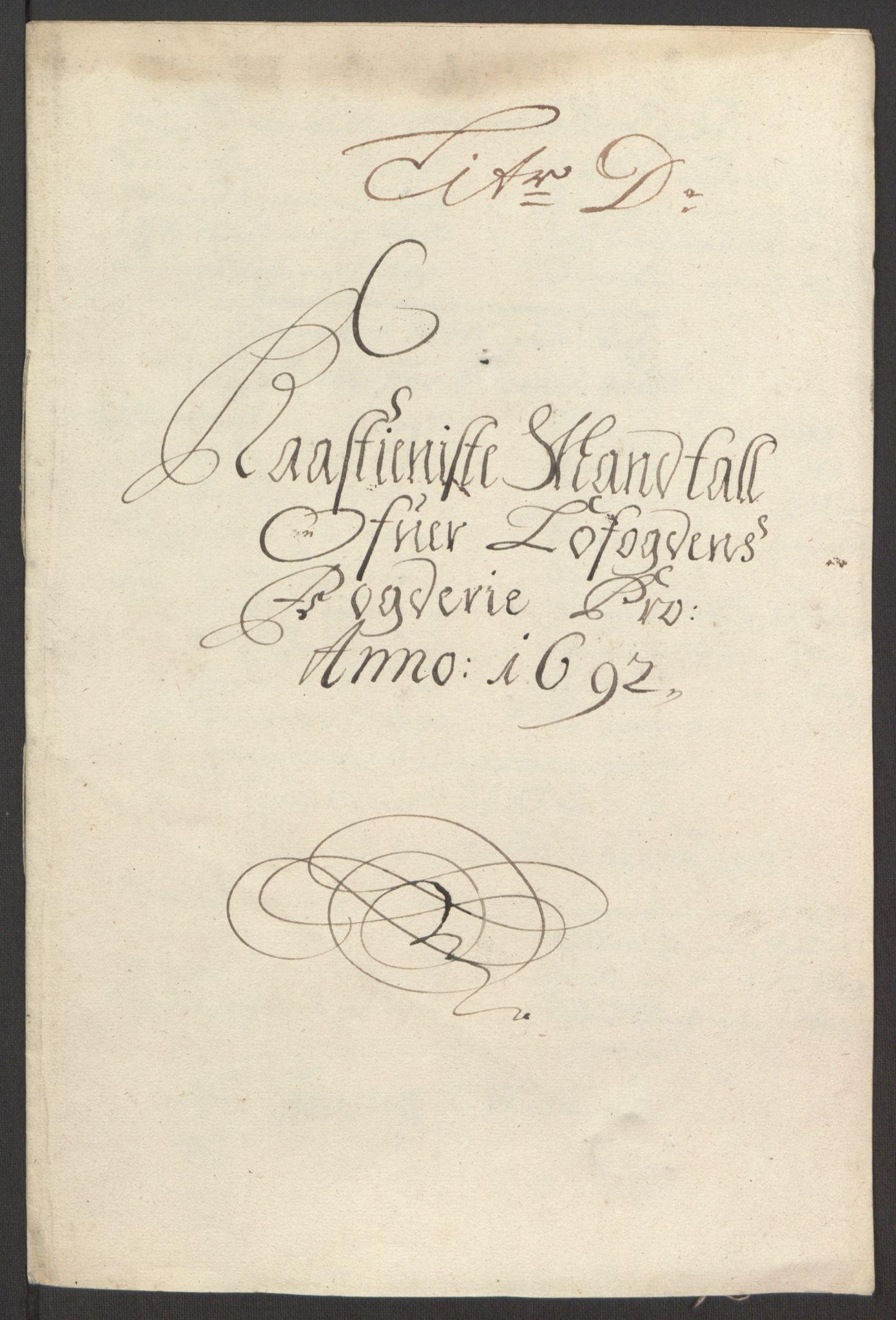 RA, Rentekammeret inntil 1814, Reviderte regnskaper, Fogderegnskap, R67/L4675: Fogderegnskap Vesterålen, Andenes og Lofoten, 1691-1693, s. 145