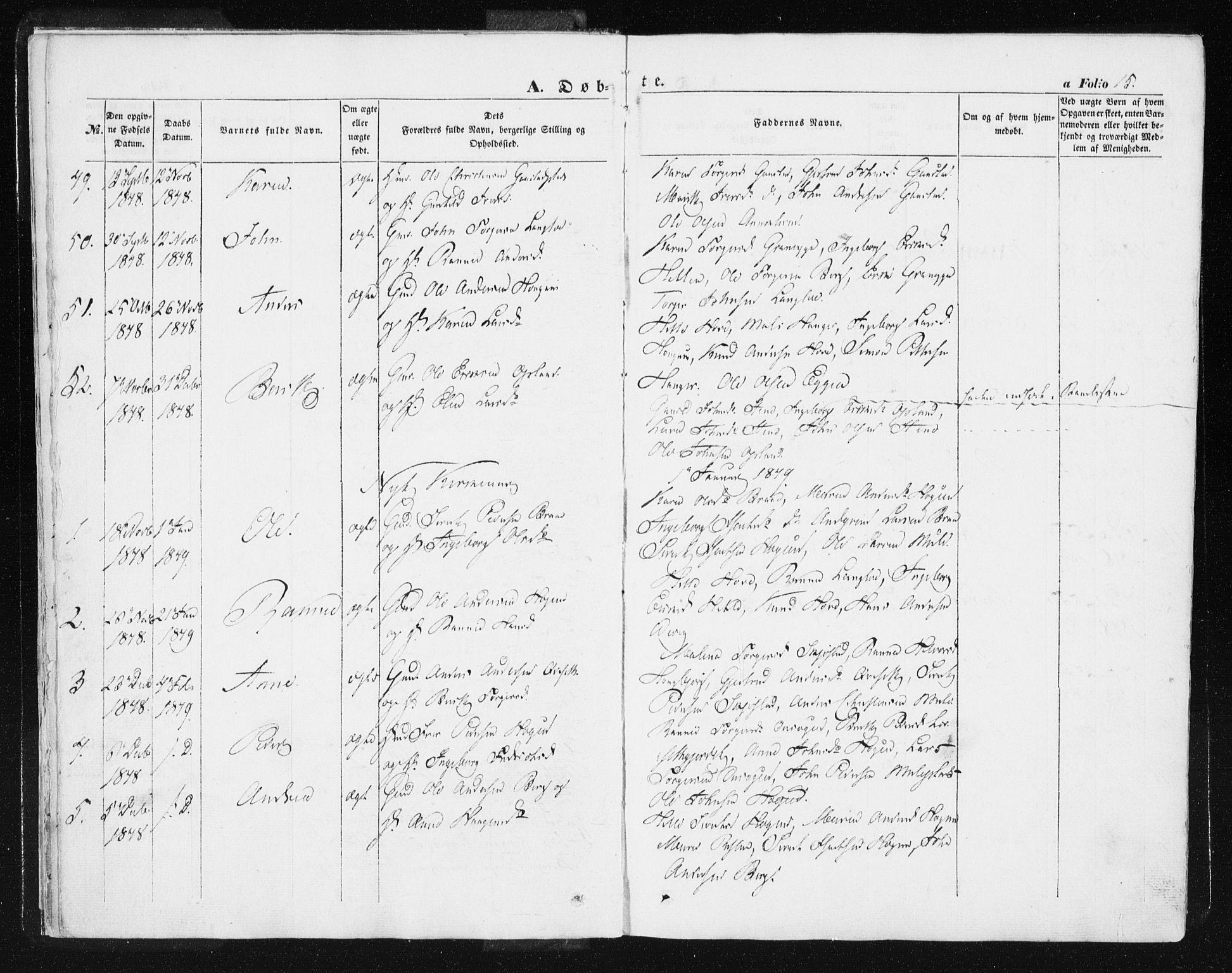 SAT, Ministerialprotokoller, klokkerbøker og fødselsregistre - Sør-Trøndelag, 612/L0376: Ministerialbok nr. 612A08, 1846-1859, s. 15