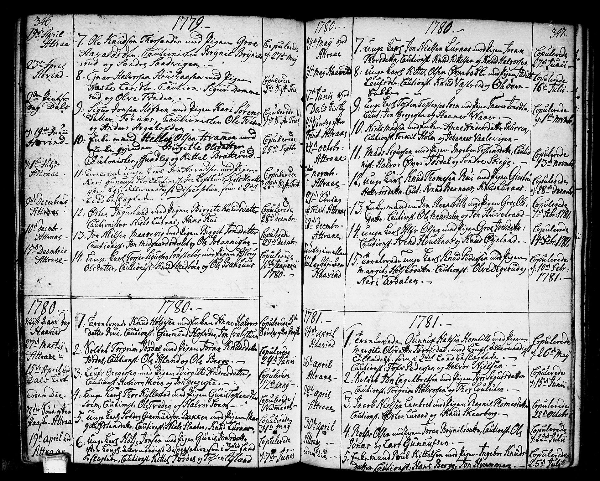 SAKO, Tinn kirkebøker, F/Fa/L0002: Ministerialbok nr. I 2, 1757-1810, s. 346-347