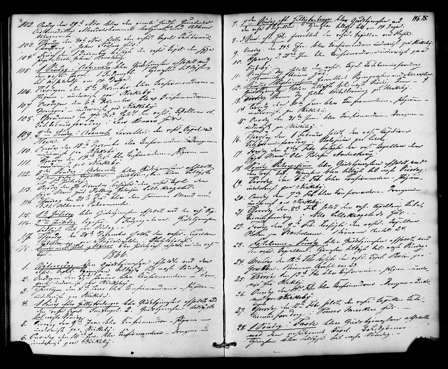 SAT, Ministerialprotokoller, klokkerbøker og fødselsregistre - Nord-Trøndelag, 706/L0041: Ministerialbok nr. 706A02, 1862-1877, s. 196