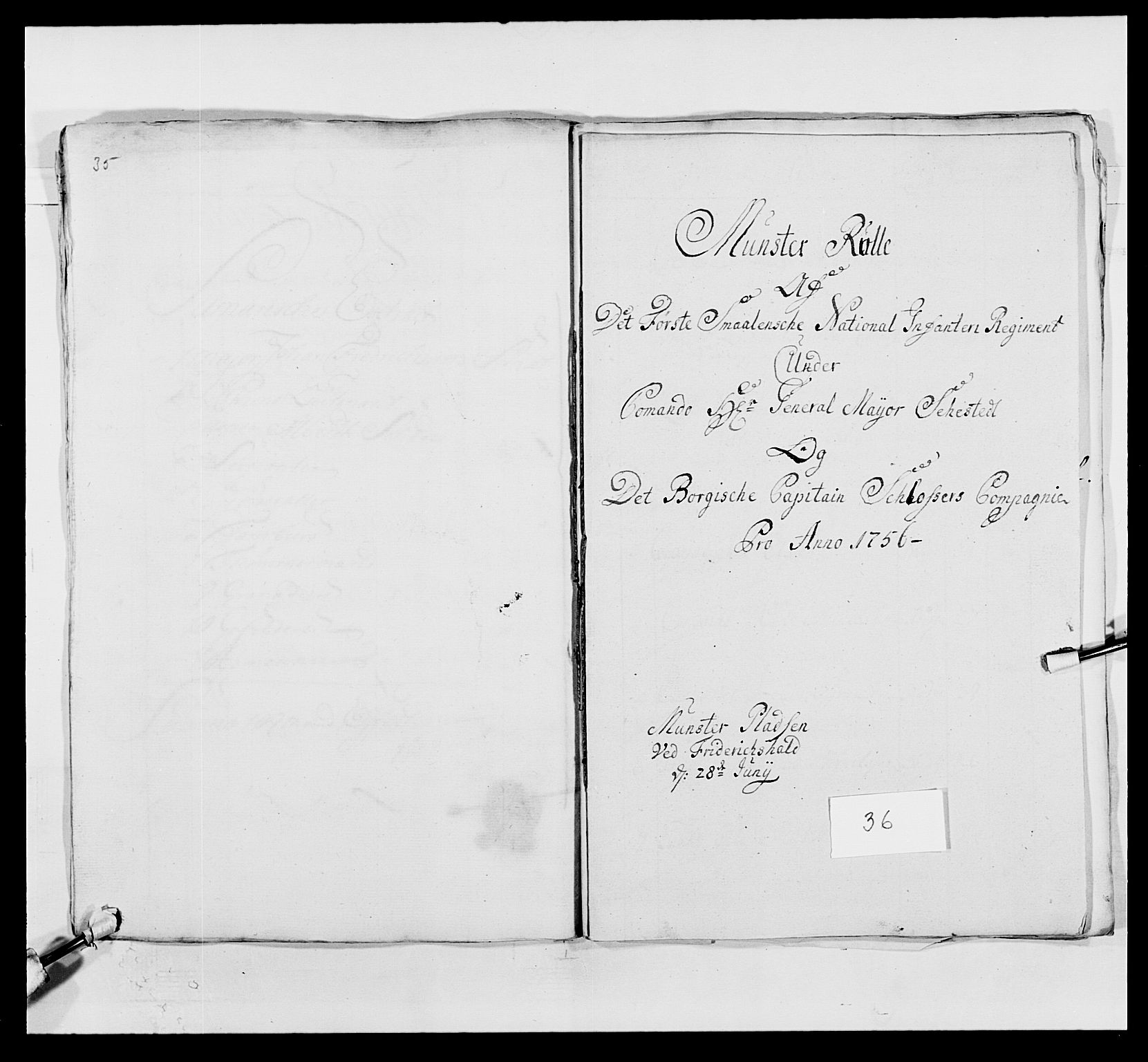 RA, Kommanderende general (KG I) med Det norske krigsdirektorium, E/Ea/L0495: 1. Smålenske regiment, 1732-1763, s. 513