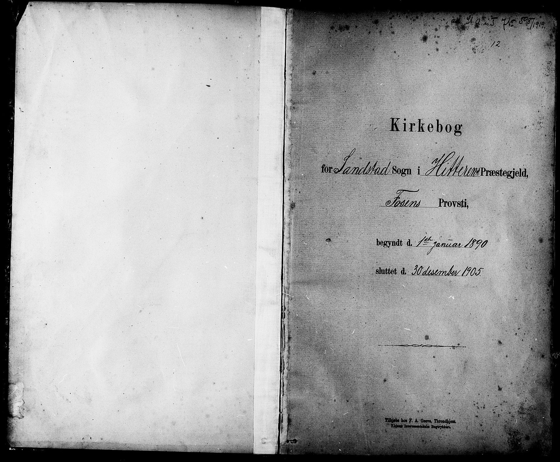 SAT, Ministerialprotokoller, klokkerbøker og fødselsregistre - Sør-Trøndelag, 639/L0573: Klokkerbok nr. 639C01, 1890-1905