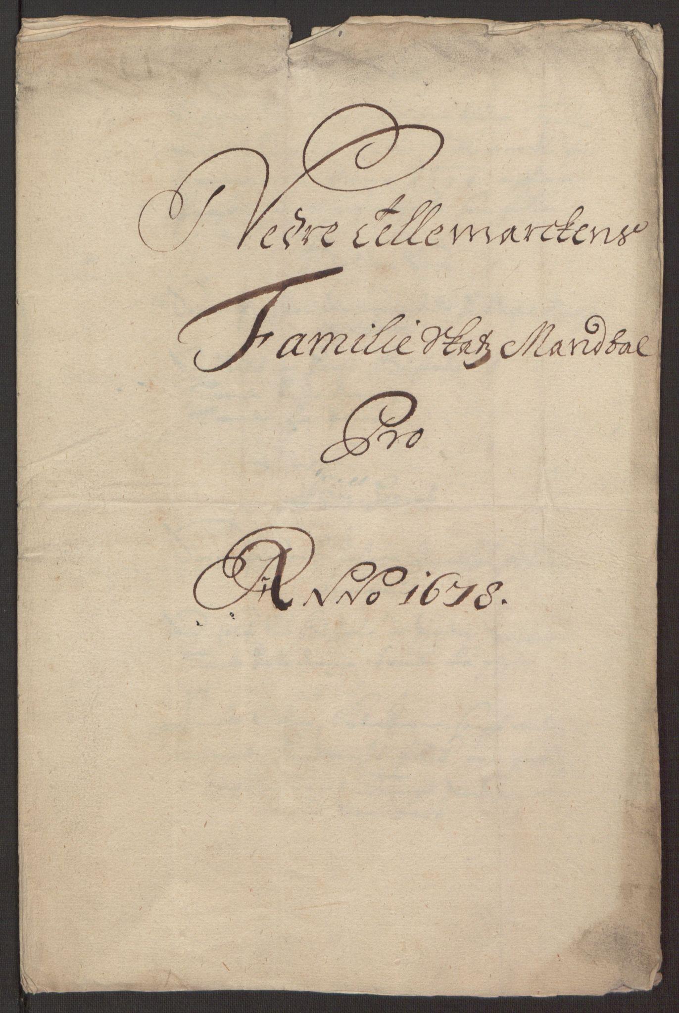 RA, Rentekammeret inntil 1814, Reviderte regnskaper, Fogderegnskap, R35/L2069: Fogderegnskap Øvre og Nedre Telemark, 1678, s. 235