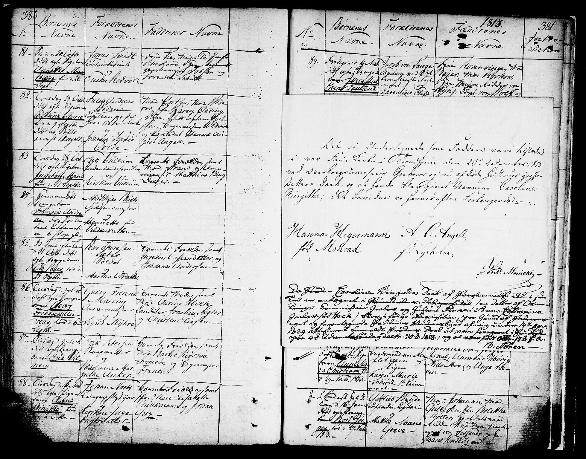 SAT, Ministerialprotokoller, klokkerbøker og fødselsregistre - Sør-Trøndelag, 602/L0104: Ministerialbok nr. 602A02, 1774-1814, s. 380-381