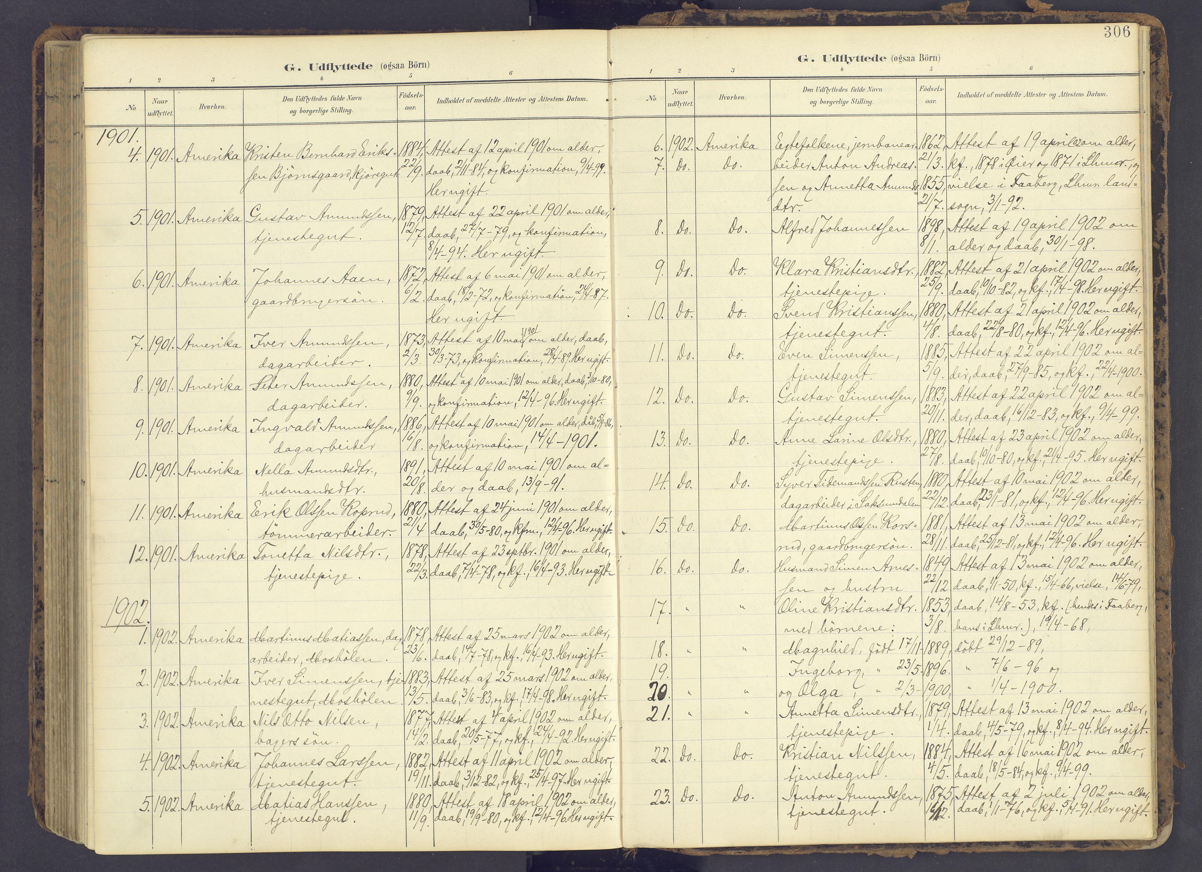 SAH, Fåberg prestekontor, Ministerialbok nr. 12, 1899-1915, s. 306