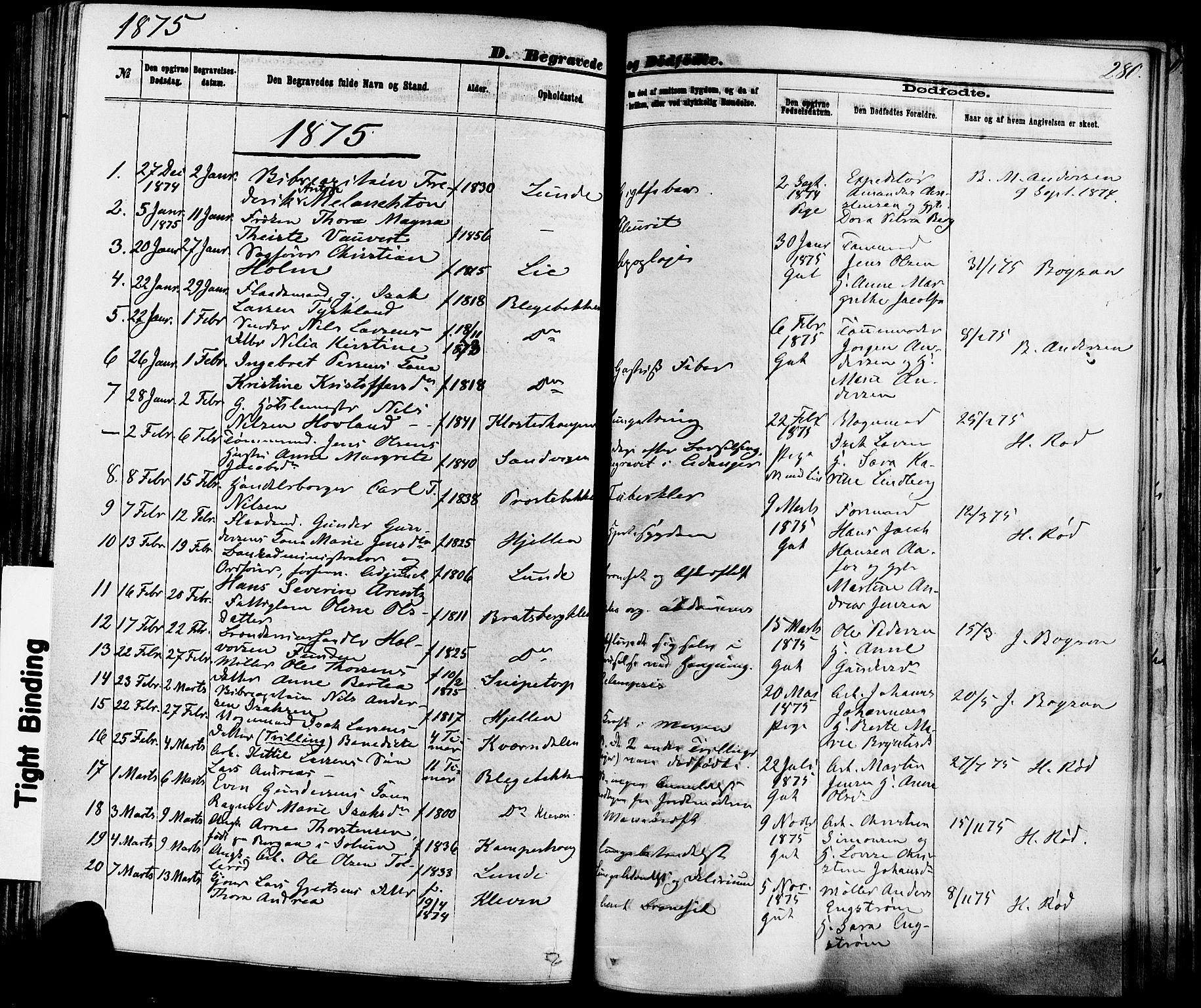 SAKO, Skien kirkebøker, F/Fa/L0008: Ministerialbok nr. 8, 1866-1877, s. 280