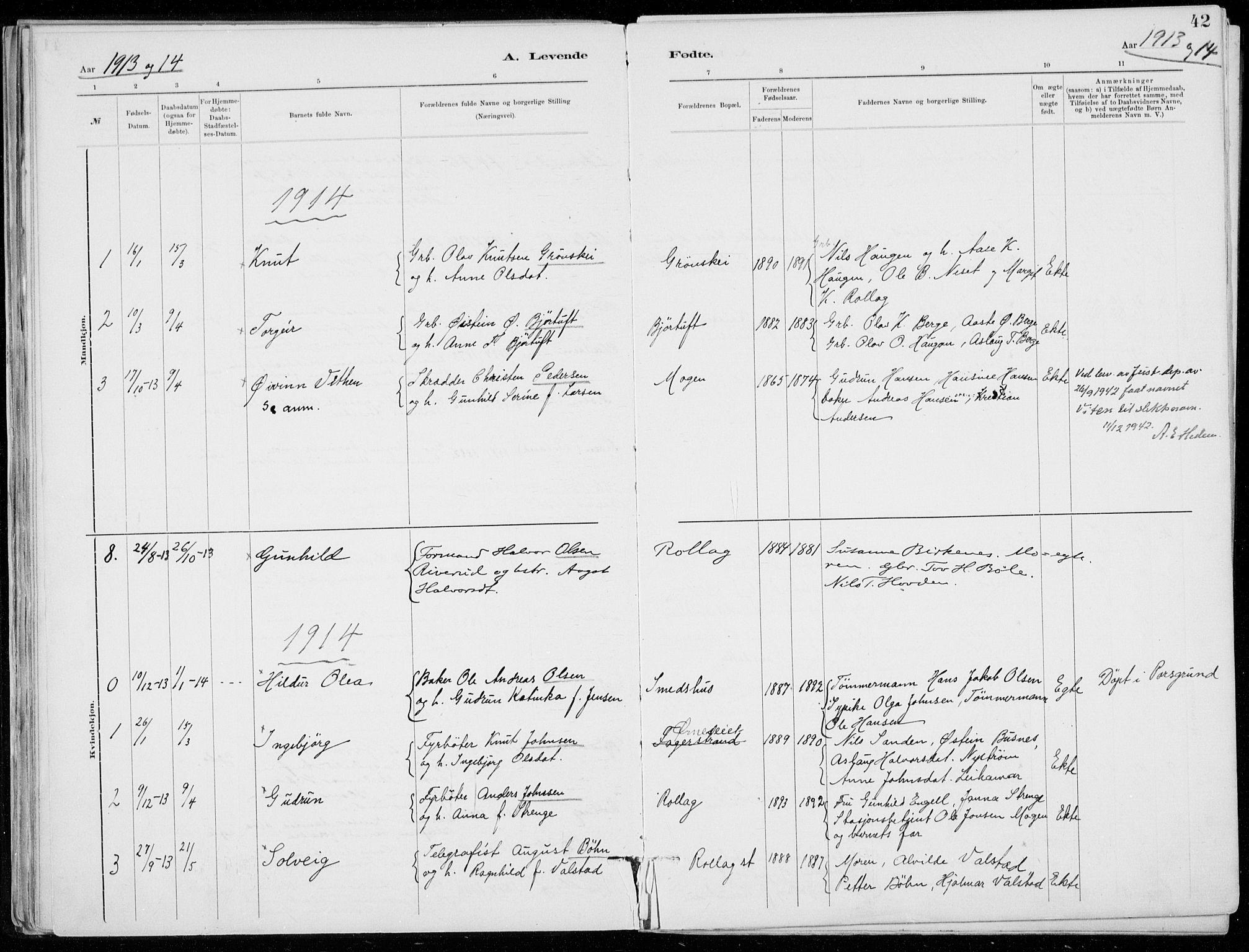 SAKO, Tinn kirkebøker, F/Fb/L0002: Ministerialbok nr. II 2, 1878-1917, s. 42