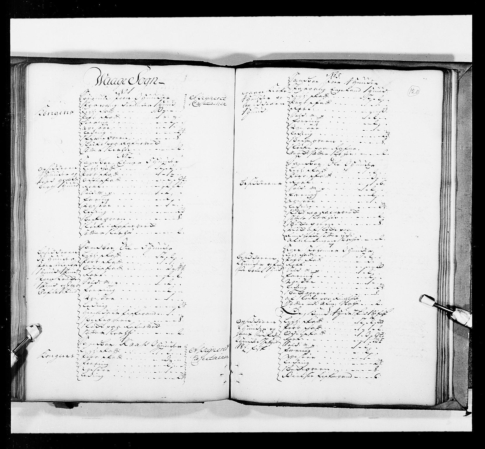 RA, Stattholderembetet 1572-1771, Ek/L0036: Jordebøker 1662-1720:, 1719, s. 119b-120a