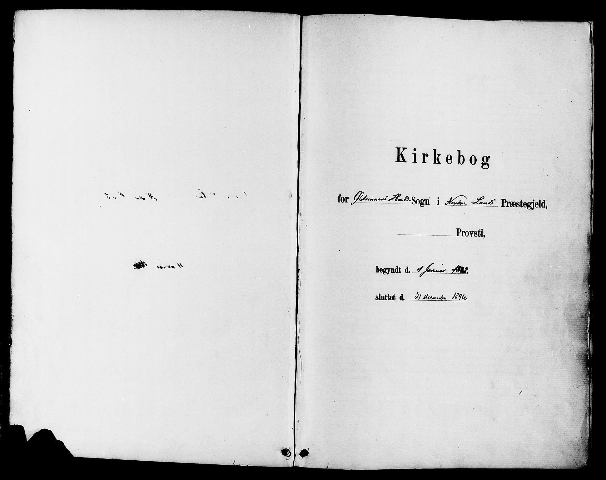 SAH, Nordre Land prestekontor, Ministerialbok nr. 3, 1882-1896