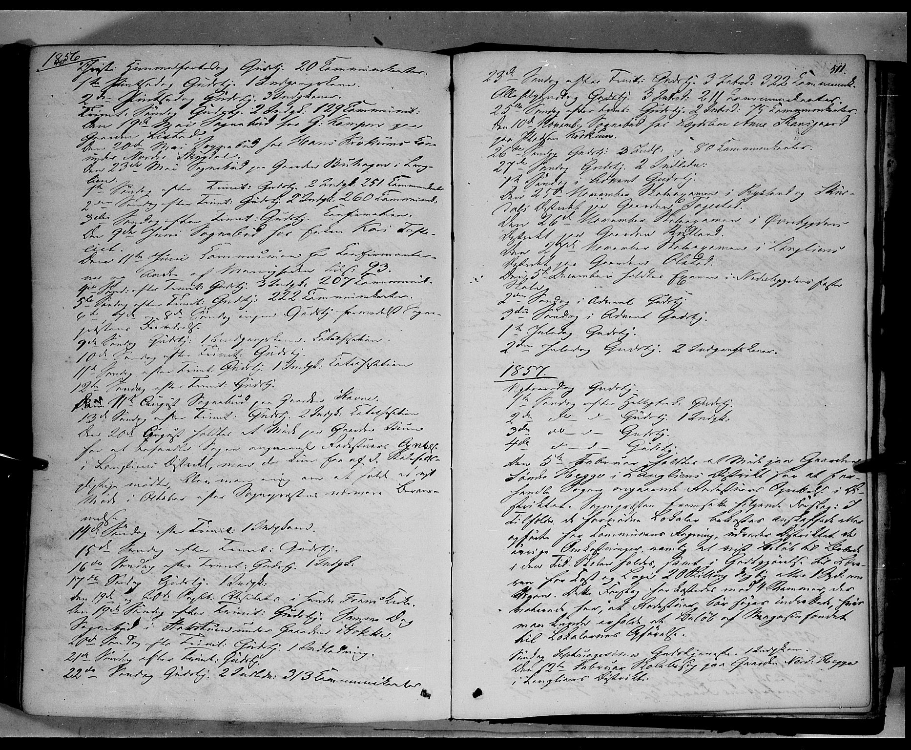 SAH, Sør-Fron prestekontor, H/Ha/Haa/L0001: Ministerialbok nr. 1, 1849-1863, s. 511