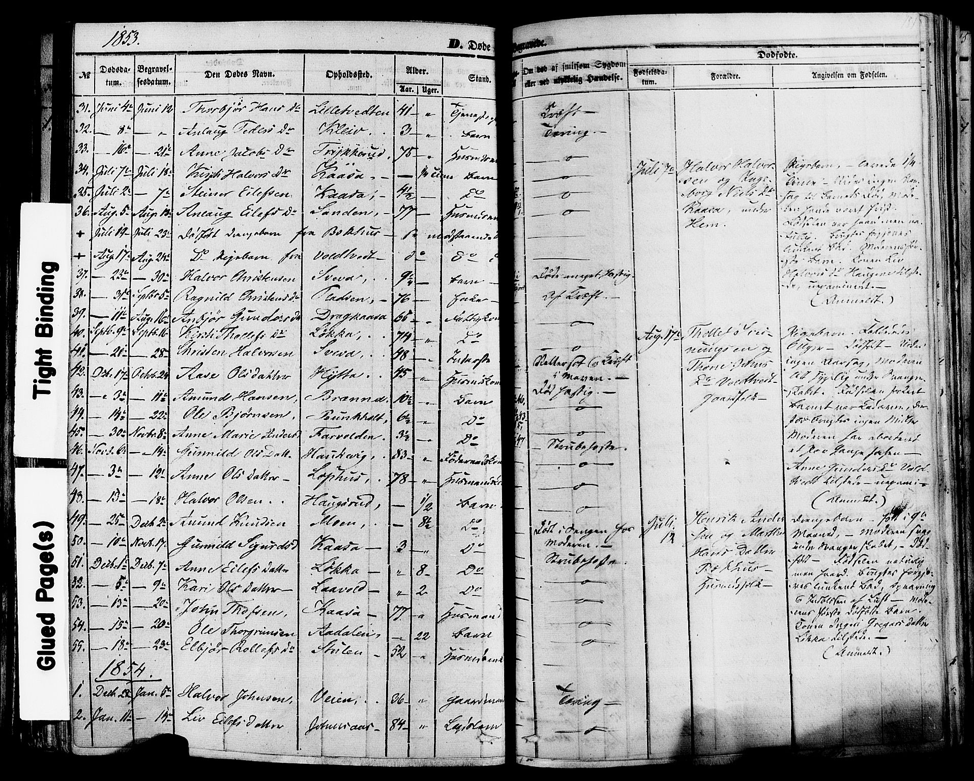 SAKO, Sauherad kirkebøker, F/Fa/L0007: Ministerialbok nr. I 7, 1851-1873, s. 184