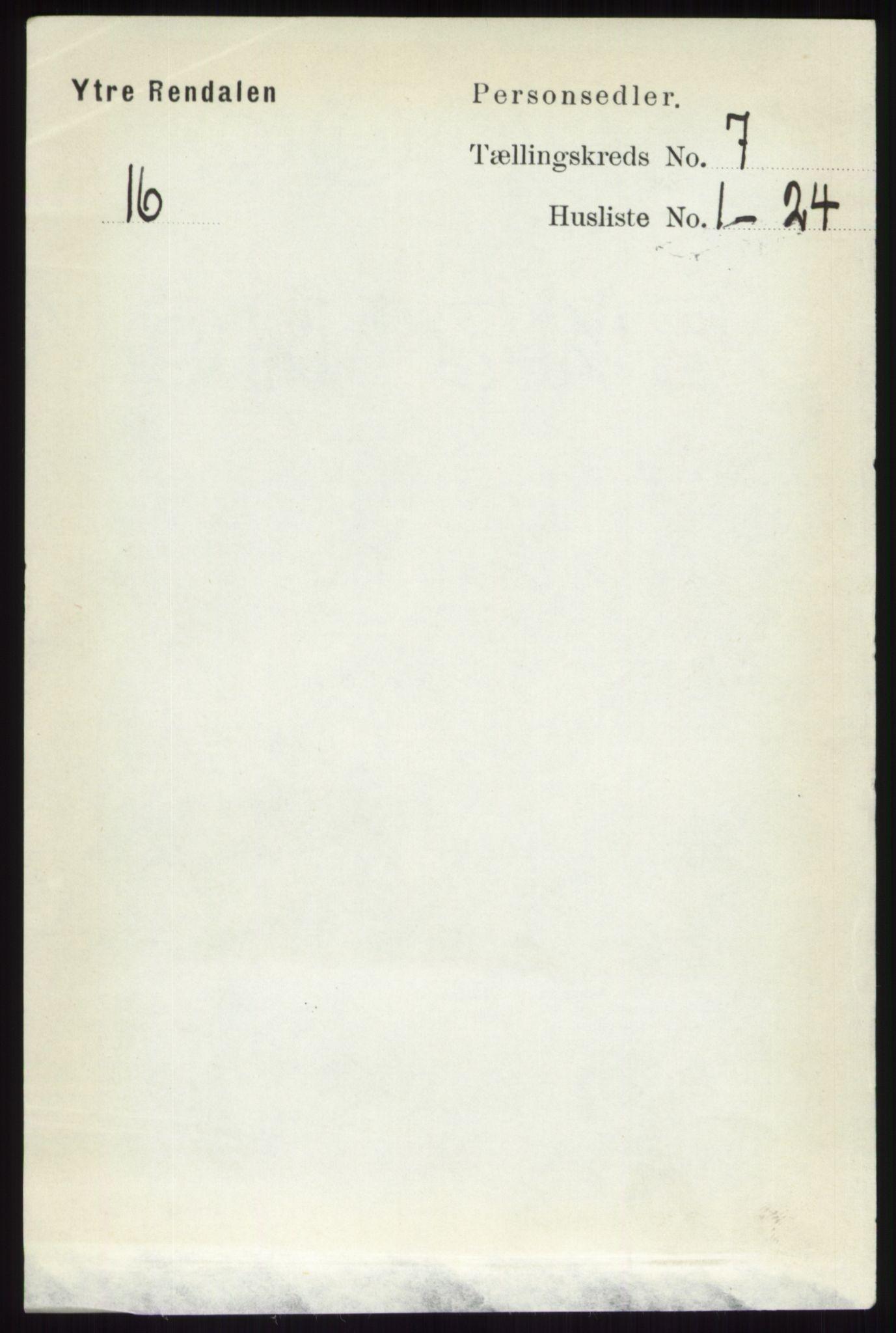 RA, Folketelling 1891 for 0432 Ytre Rendal herred, 1891, s. 1870