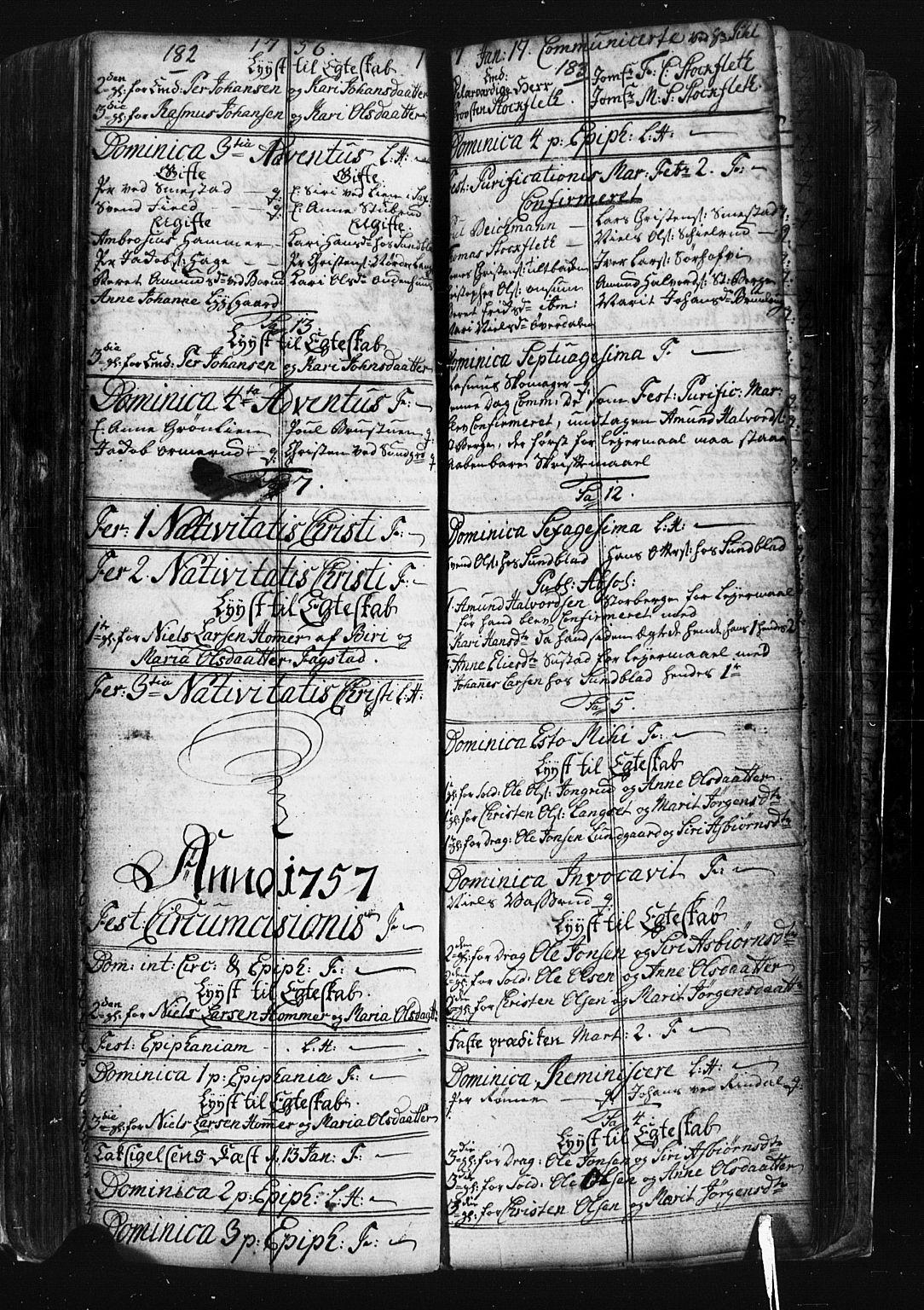SAH, Fåberg prestekontor, Klokkerbok nr. 1, 1727-1767, s. 182-183