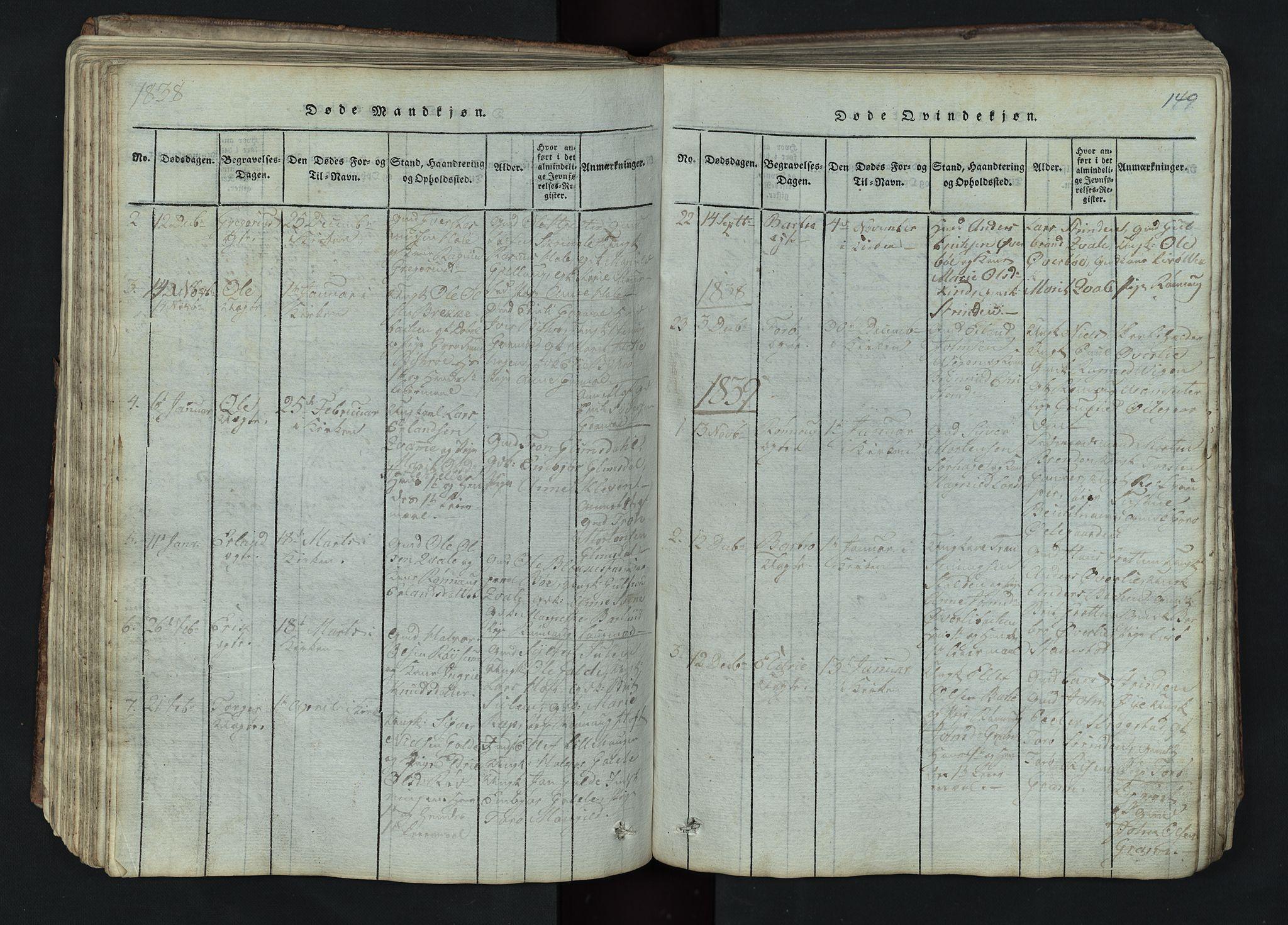 SAH, Lom prestekontor, L/L0002: Klokkerbok nr. 2, 1815-1844, s. 149