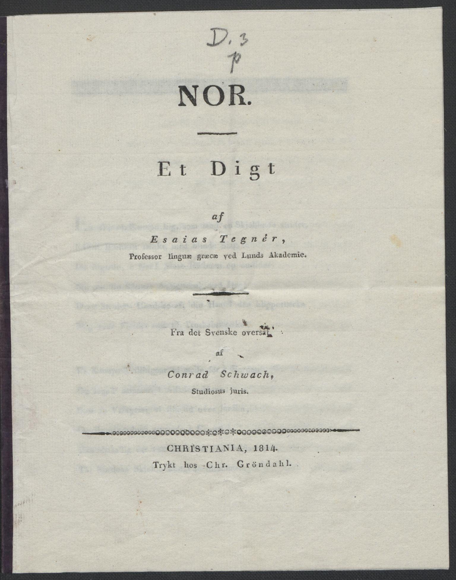 RA, Christie, Wilhelm Frimann Koren, F/L0004, 1814, s. 232