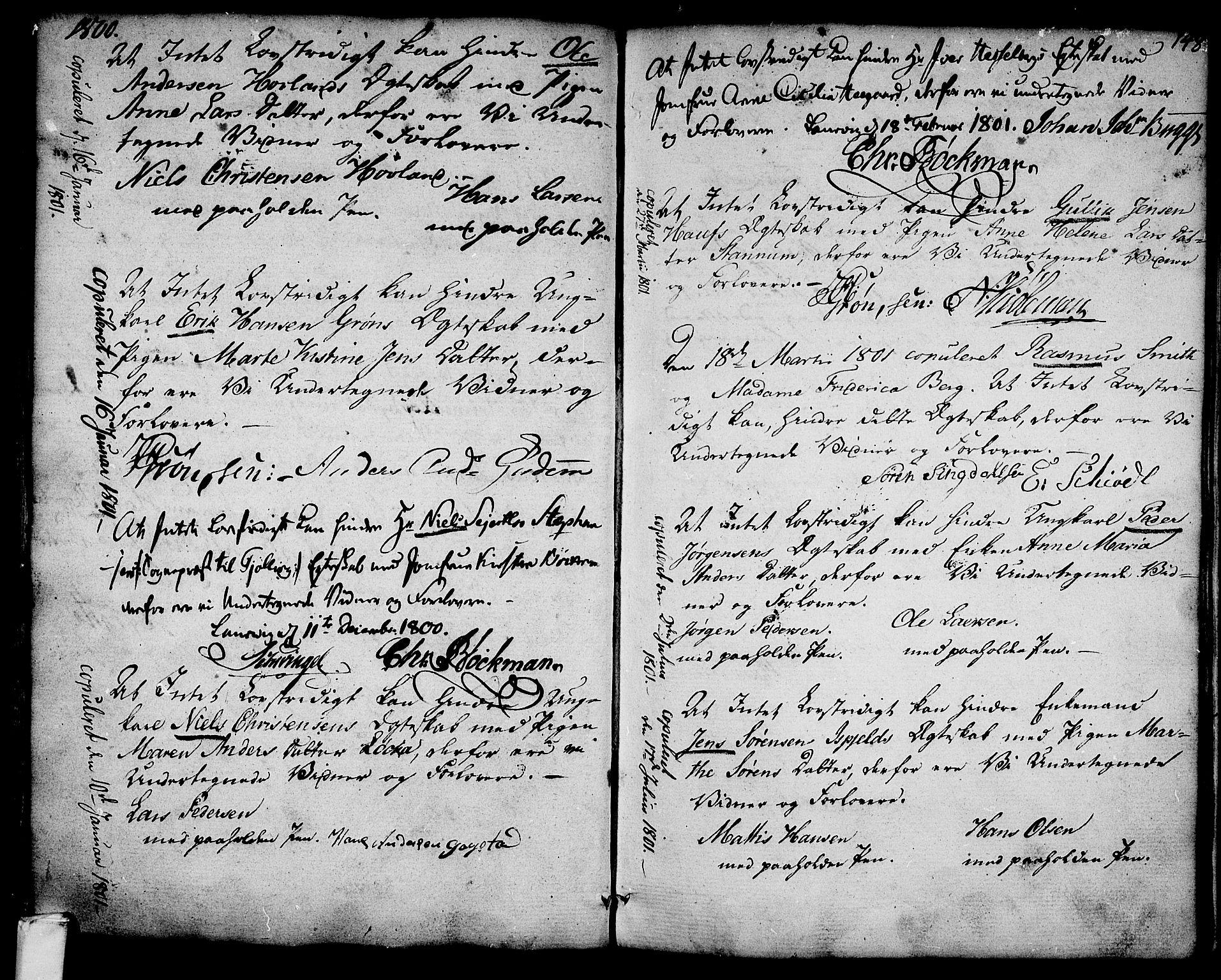 SAKO, Larvik kirkebøker, G/Ga/L0001: Klokkerbok nr. I 1, 1785-1807, s. 148