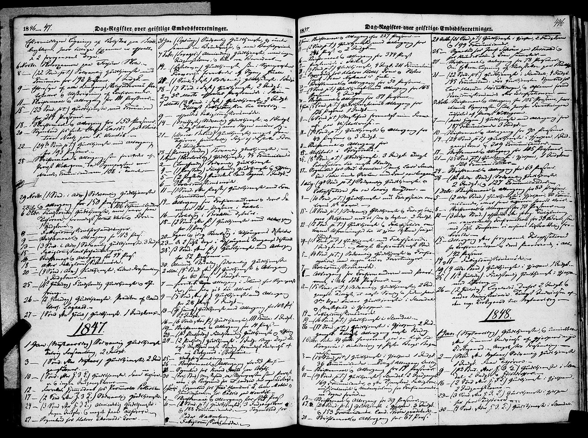 SAKO, Gjerpen kirkebøker, F/Fa/L0007b: Ministerialbok nr. 7B, 1834-1857, s. 446
