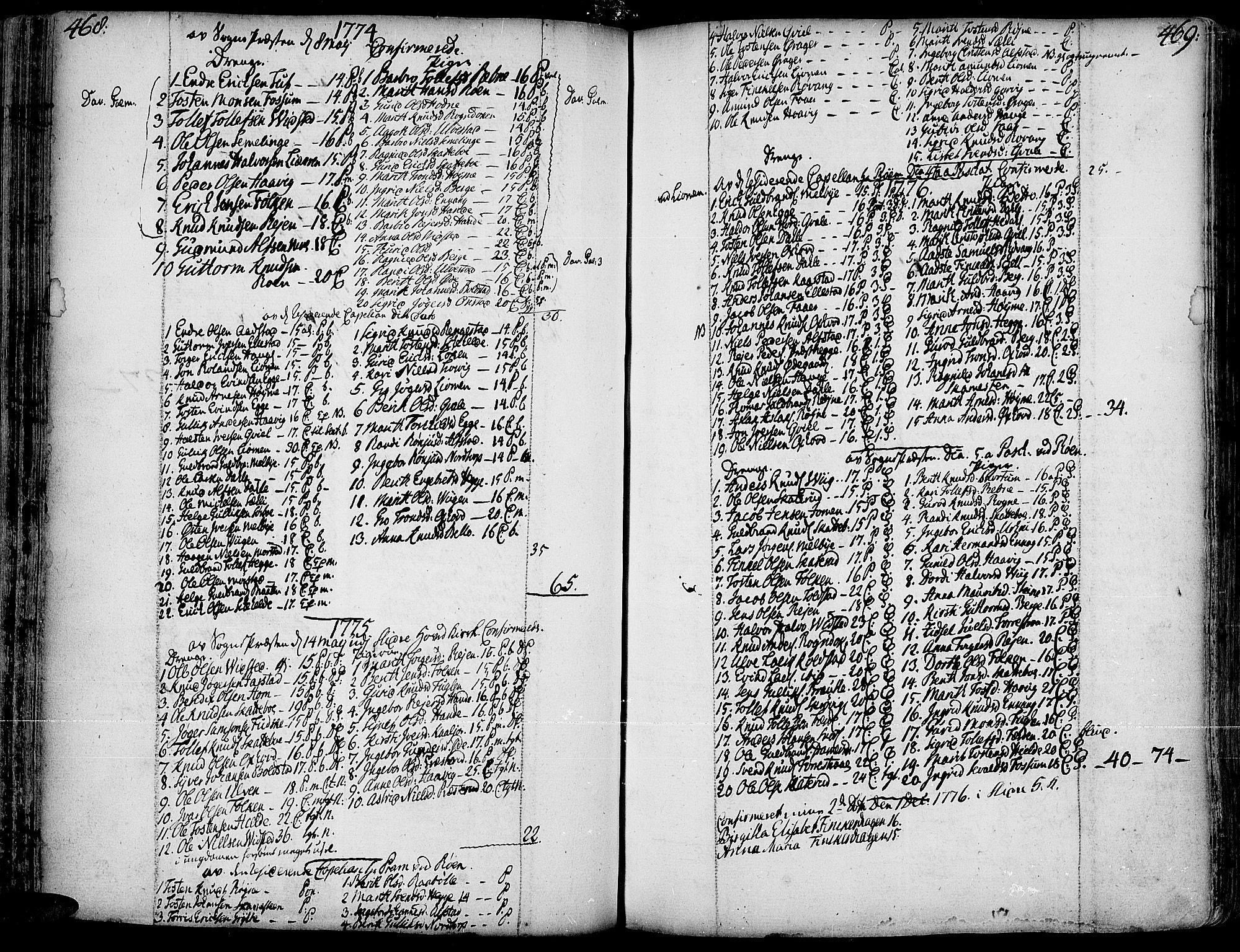 SAH, Slidre prestekontor, Ministerialbok nr. 1, 1724-1814, s. 468-469
