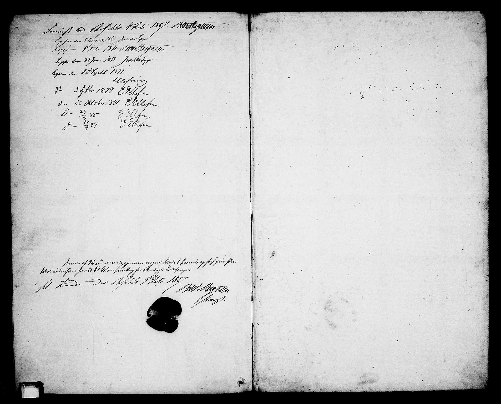SAKO, Lunde kirkebøker, G/Gb/L0001: Klokkerbok nr. II 1, 1866-1887