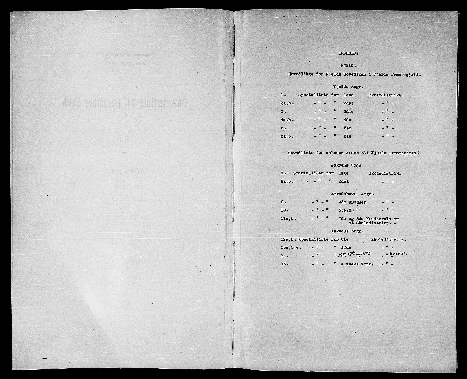 RA, Folketelling 1865 for 1246P Fjell prestegjeld, 1865, s. 4
