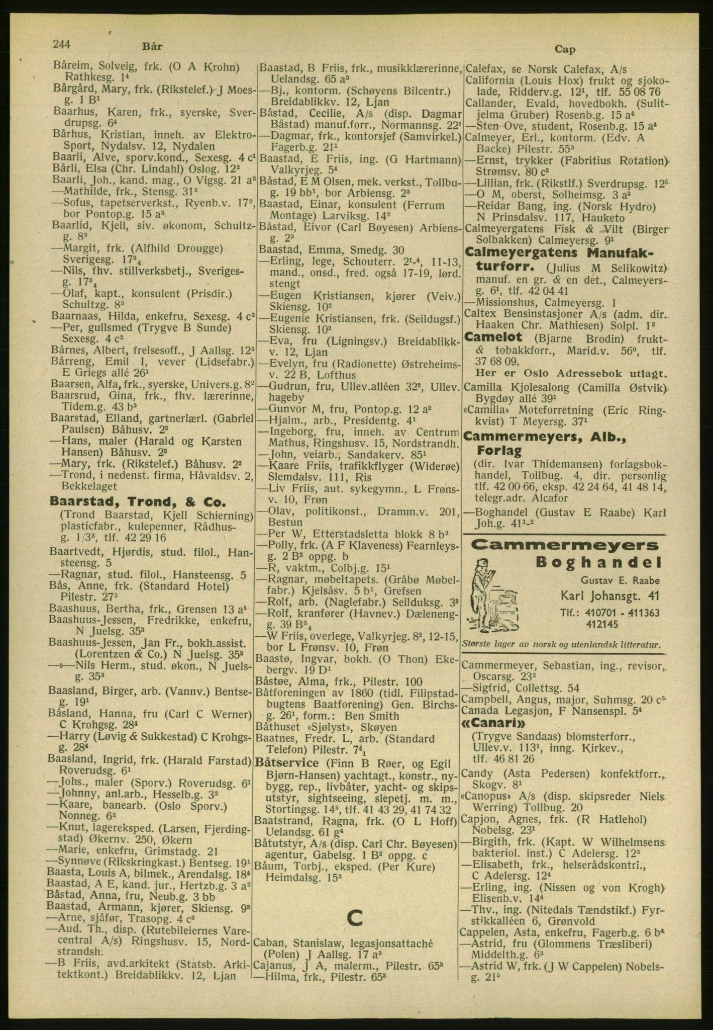 PUBL, Kristiania/Oslo adressebok, 1951, s. 244