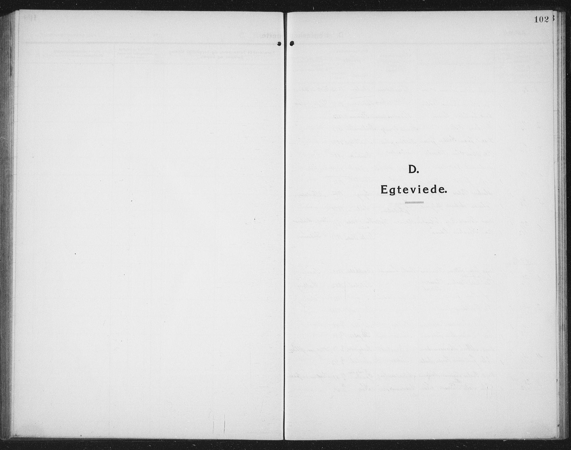 SAT, Ministerialprotokoller, klokkerbøker og fødselsregistre - Nord-Trøndelag, 731/L0312: Klokkerbok nr. 731C03, 1911-1935, s. 102