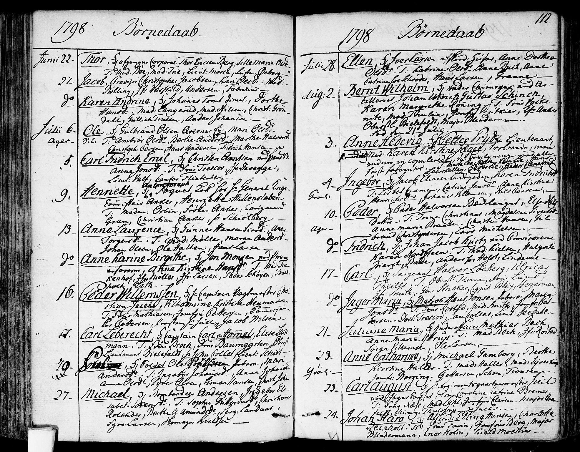 SAO, Garnisonsmenigheten Kirkebøker, F/Fa/L0003: Ministerialbok nr. 3, 1777-1809, s. 112