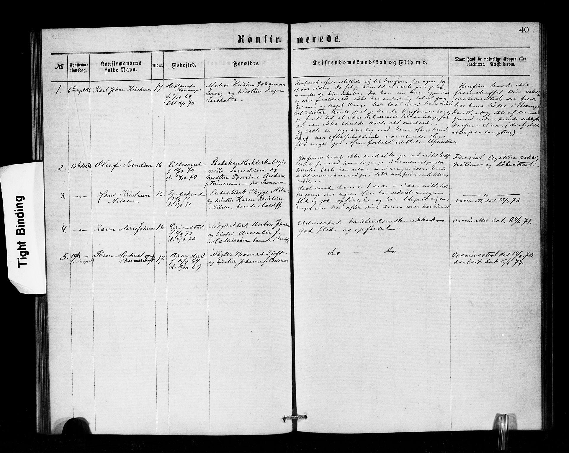 SAB, Den Norske Sjømannsmisjon i utlandet*, Ministerialbok nr. A 1, 1866-1887, s. 40