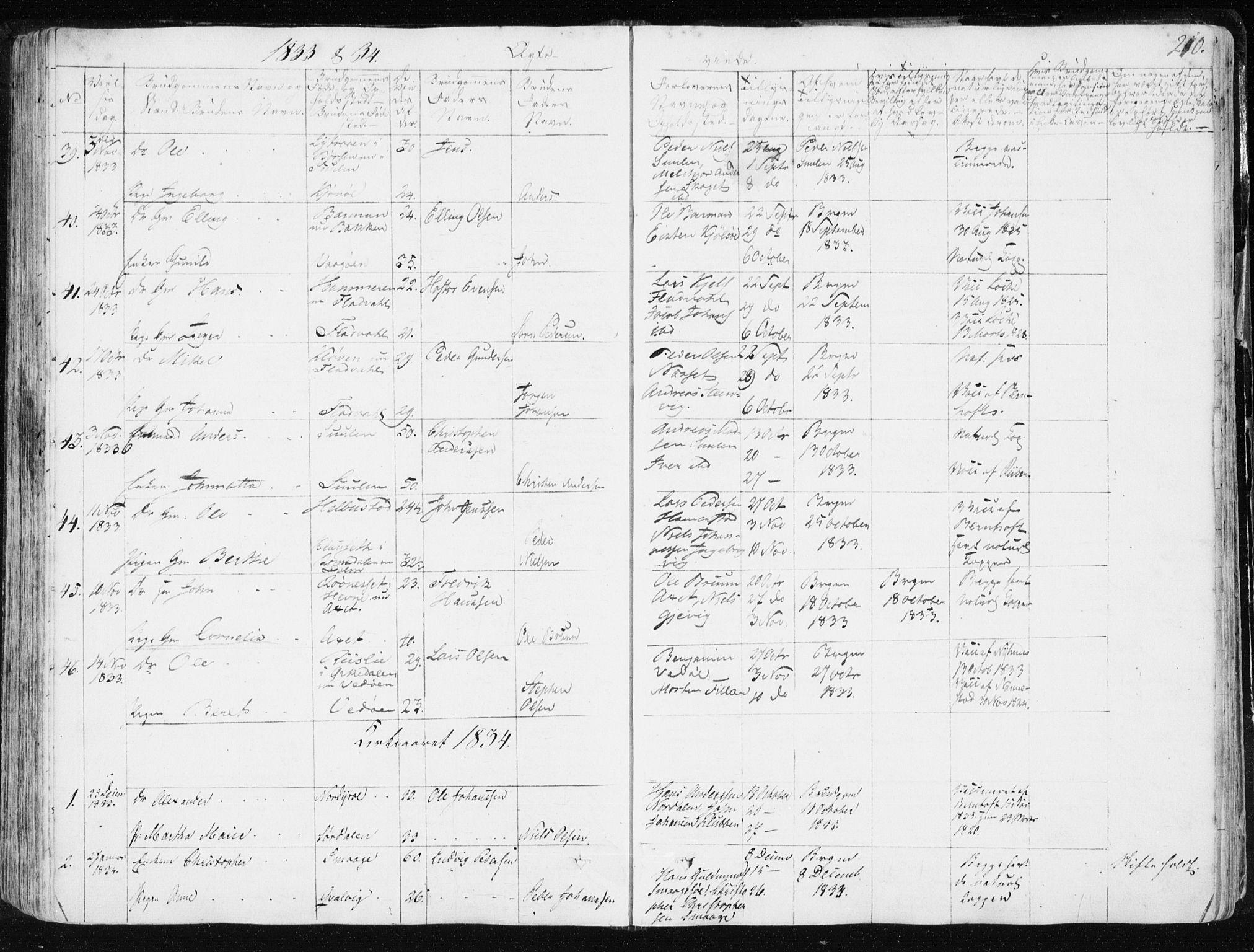 SAT, Ministerialprotokoller, klokkerbøker og fødselsregistre - Sør-Trøndelag, 634/L0528: Ministerialbok nr. 634A04, 1827-1842, s. 210