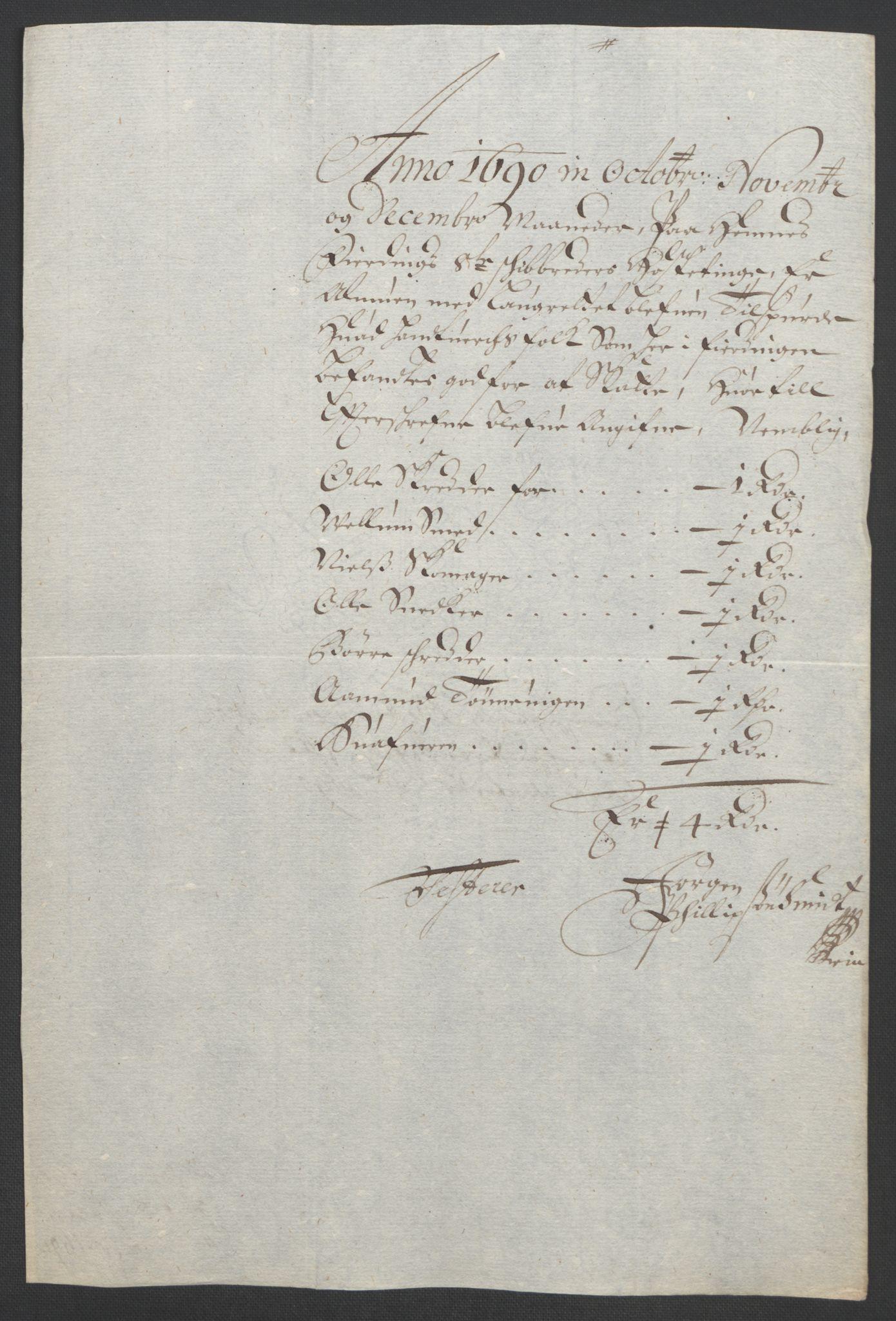 RA, Rentekammeret inntil 1814, Reviderte regnskaper, Fogderegnskap, R47/L2856: Fogderegnskap Ryfylke, 1689-1693, s. 226