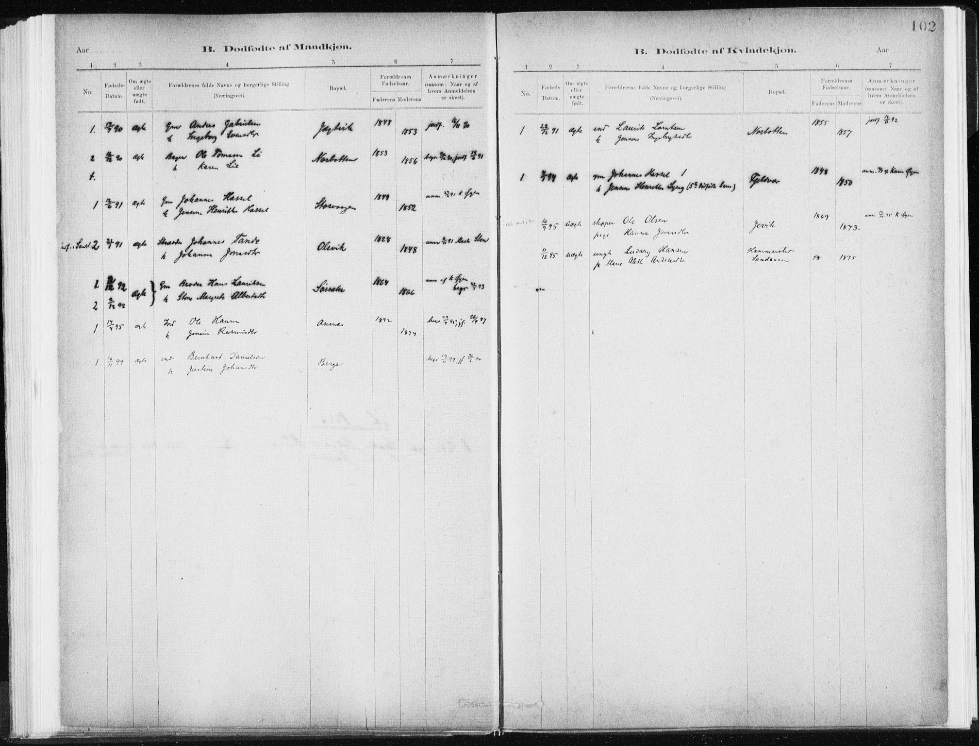 SAT, Ministerialprotokoller, klokkerbøker og fødselsregistre - Sør-Trøndelag, 637/L0558: Ministerialbok nr. 637A01, 1882-1899, s. 102