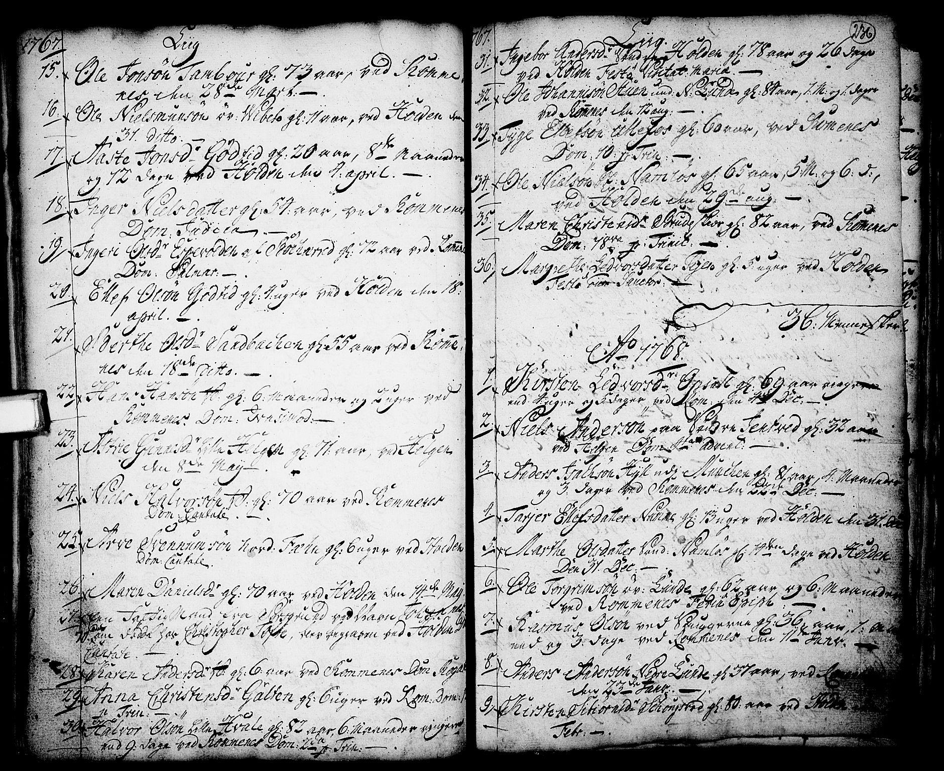 SAKO, Holla kirkebøker, F/Fa/L0001: Ministerialbok nr. 1, 1717-1779, s. 236