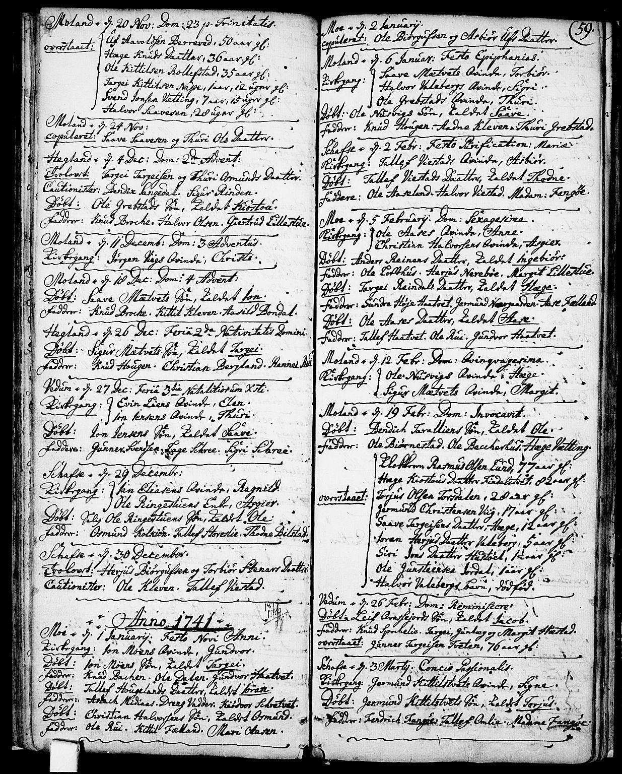 SAKO, Fyresdal kirkebøker, F/Fa/L0001: Ministerialbok nr. I 1, 1724-1748, s. 59
