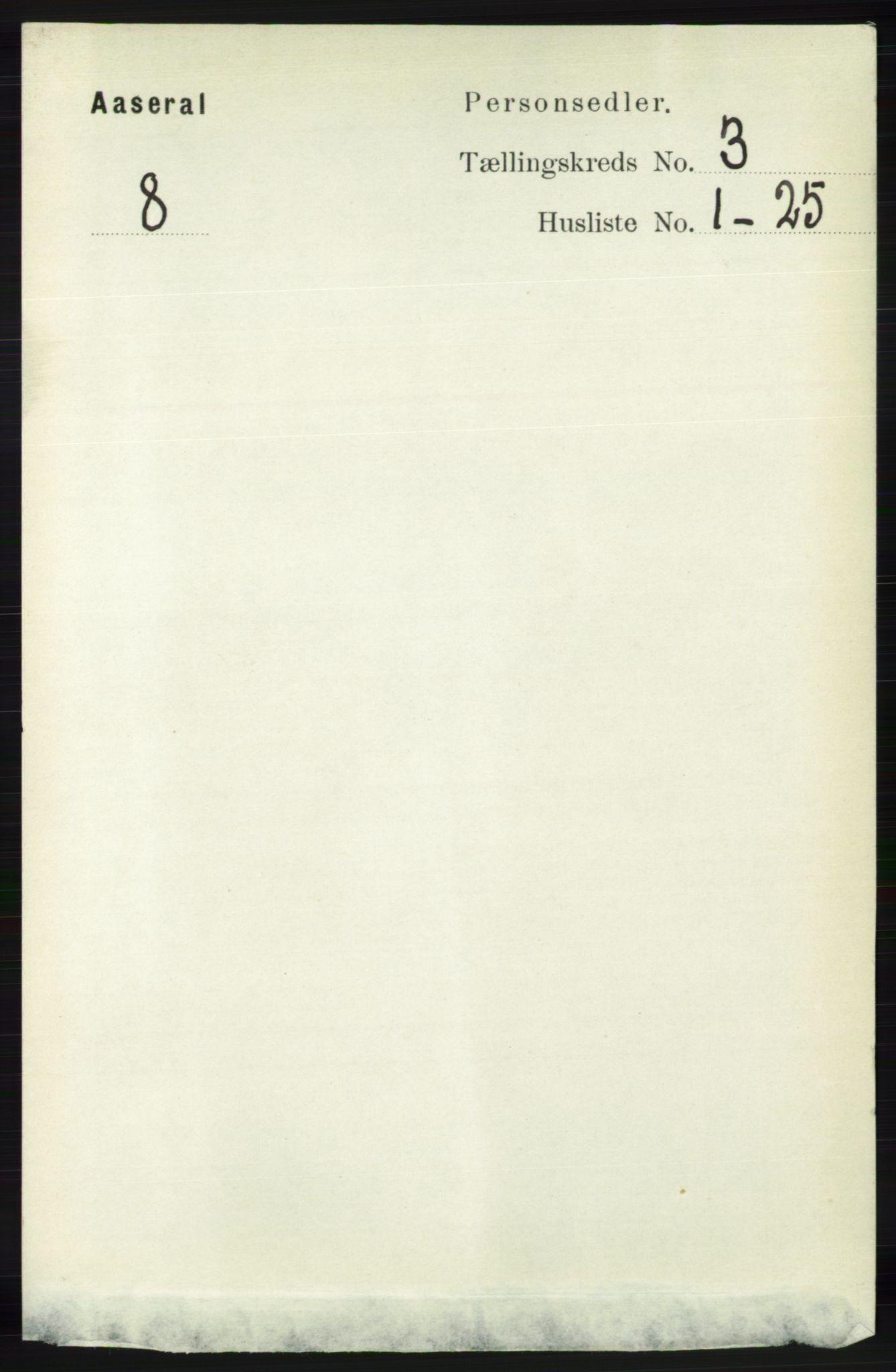RA, Folketelling 1891 for 1026 Åseral herred, 1891, s. 779