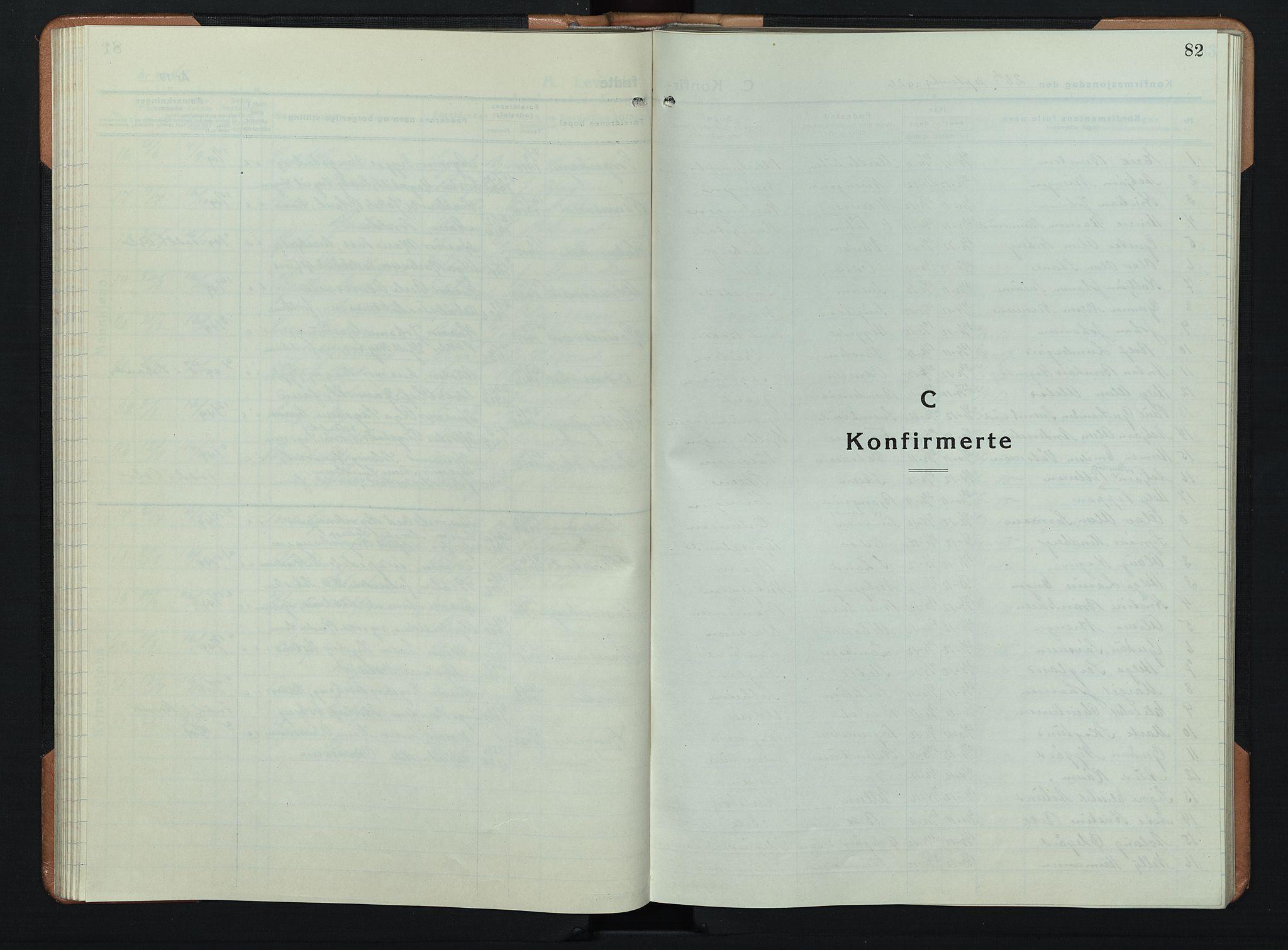 SAH, Søndre Land prestekontor, L/L0008: Klokkerbok nr. 8, 1926-1950, s. 82