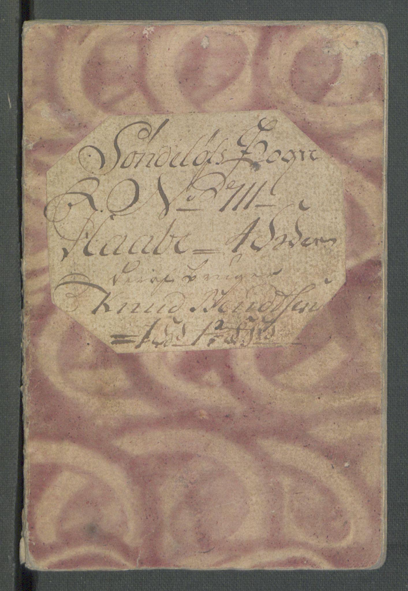 RA, Rentekammeret inntil 1814, Realistisk ordnet avdeling, Od/L0001: Oppløp, 1786-1769, s. 196
