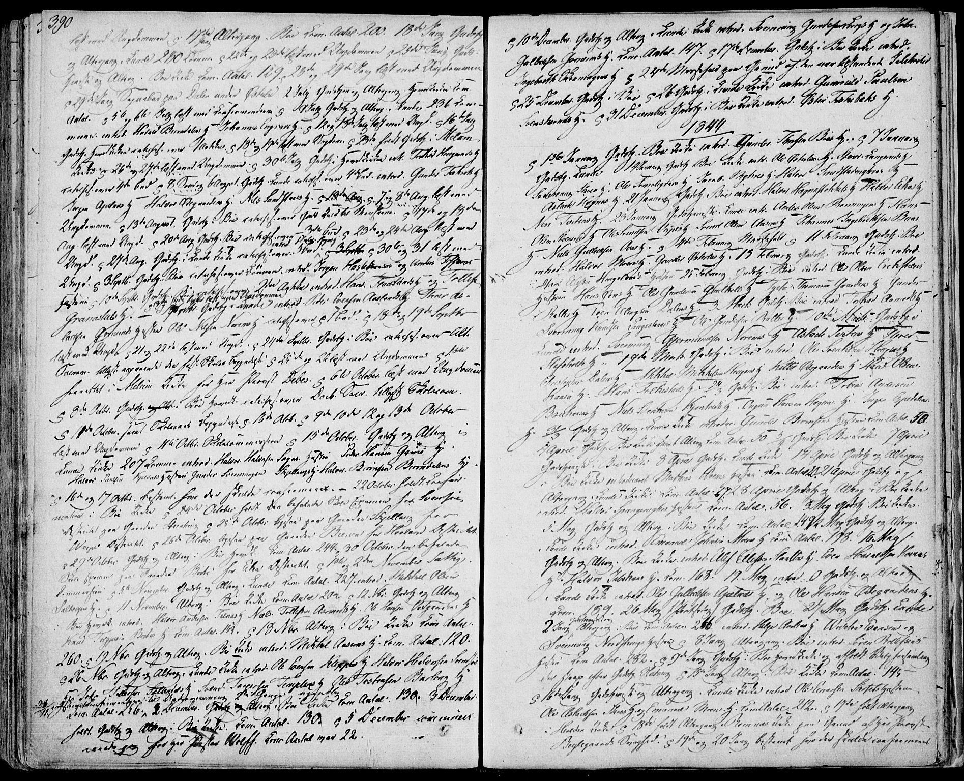 SAKO, Bø kirkebøker, F/Fa/L0007: Ministerialbok nr. 7, 1831-1848, s. 390