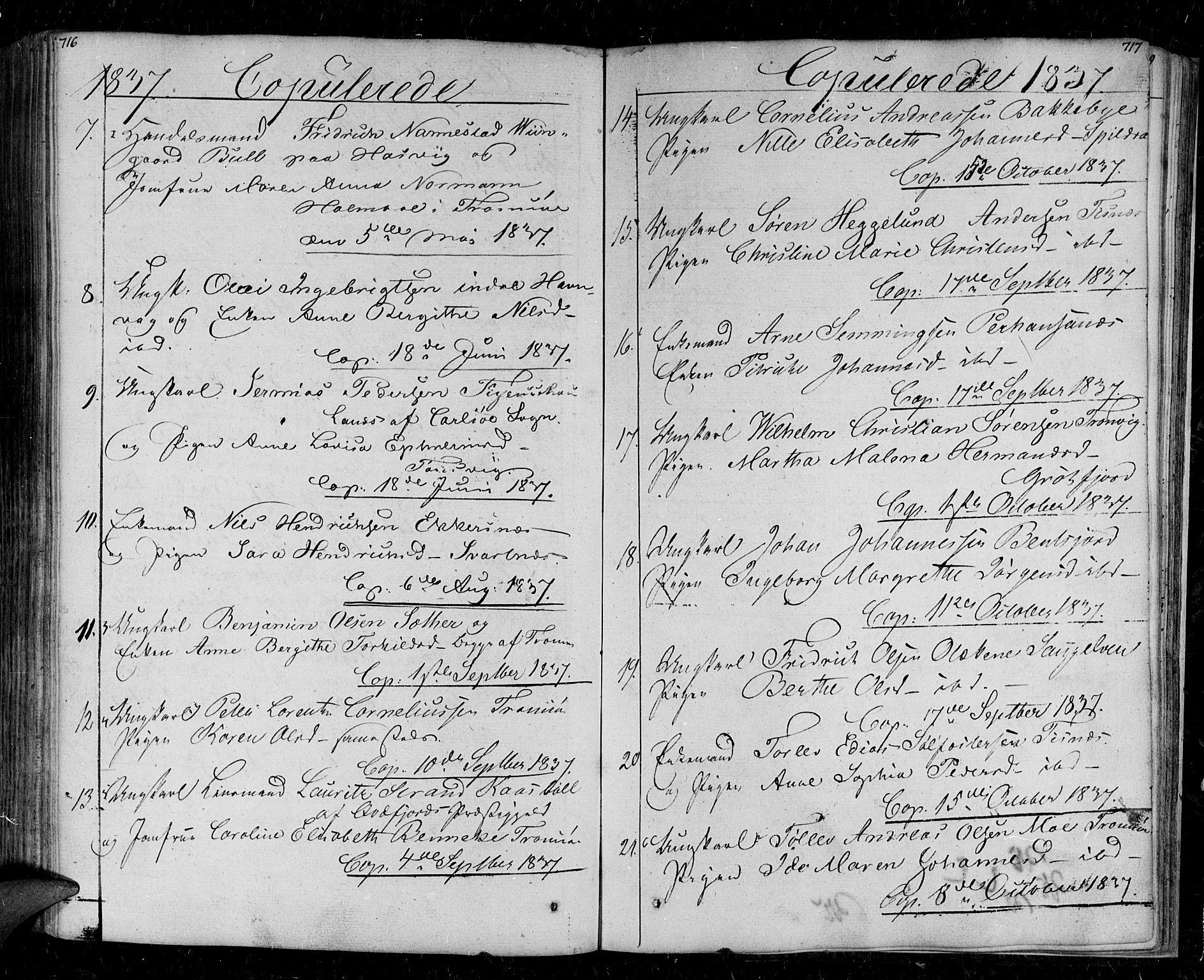 SATØ, Tromsø sokneprestkontor/stiftsprosti/domprosti, G/Ga/L0008kirke: Ministerialbok nr. 8, 1829-1837, s. 716-717