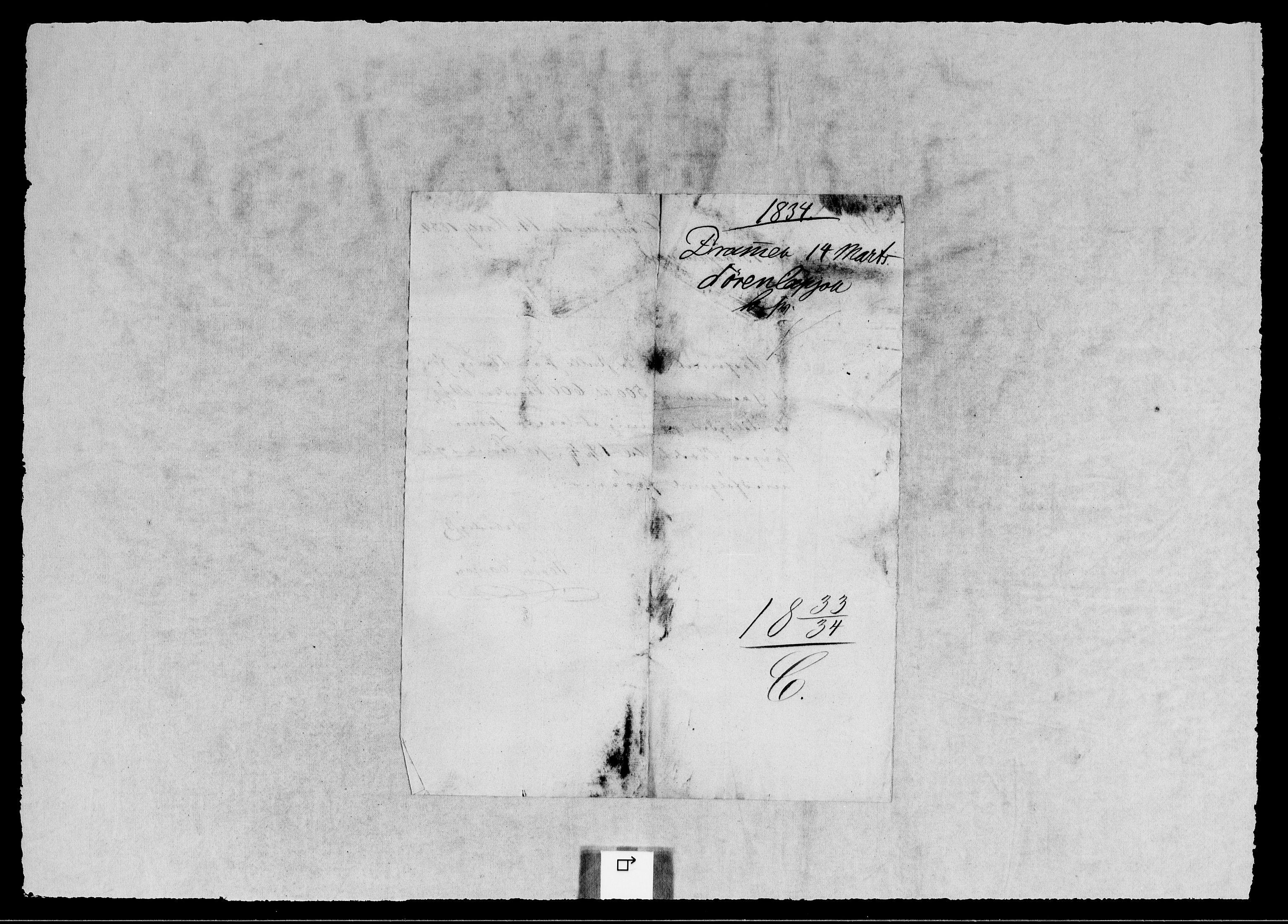 RA, Modums Blaafarveværk, G/Gb/L0111, 1833-1834, s. 2