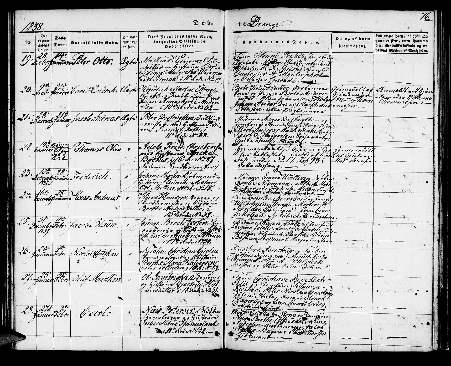 SAB, Domkirken sokneprestembete, H/Haa/L0015: Ministerialbok nr. A 14, 1835-1840, s. 76