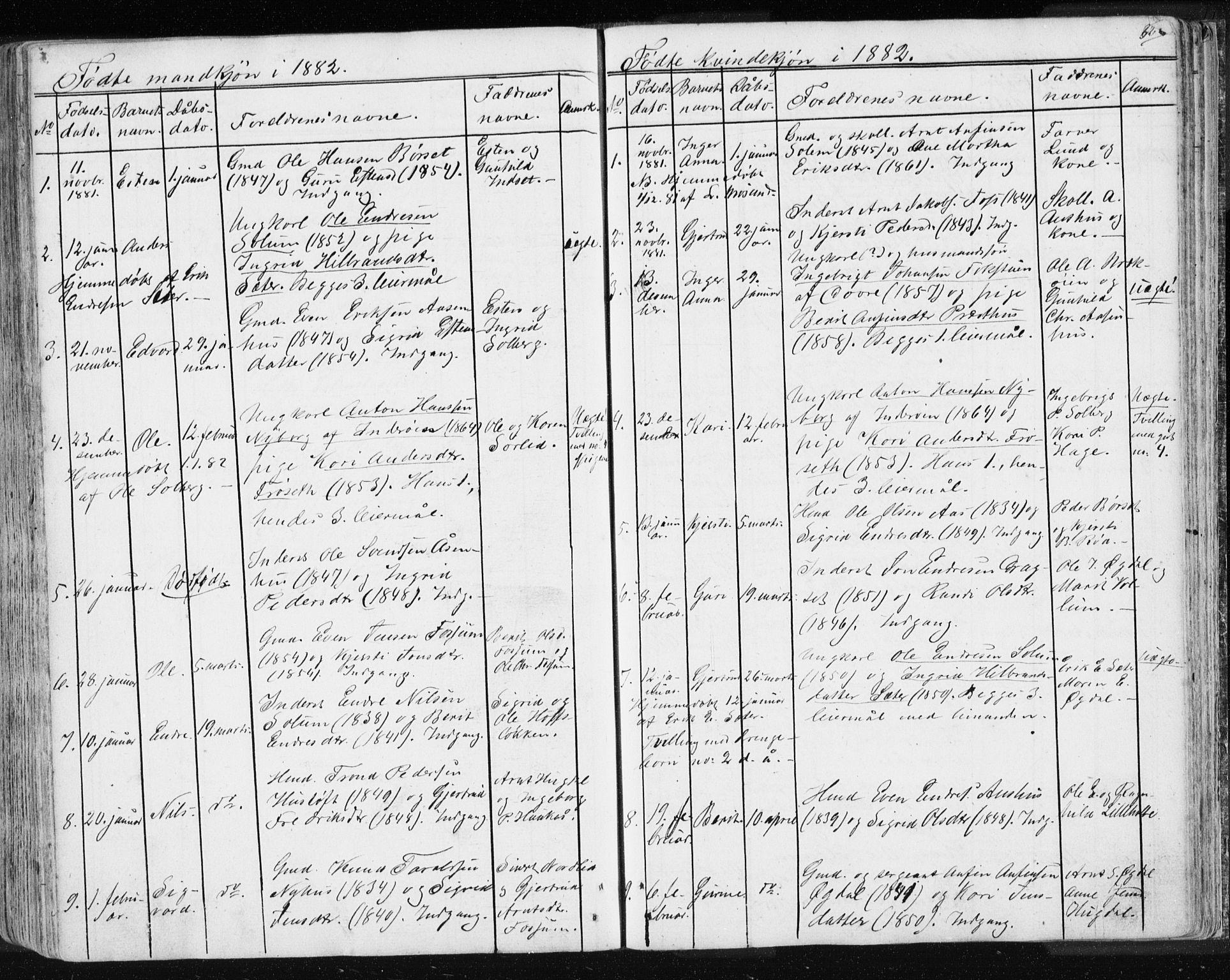 SAT, Ministerialprotokoller, klokkerbøker og fødselsregistre - Sør-Trøndelag, 689/L1043: Klokkerbok nr. 689C02, 1816-1892, s. 326
